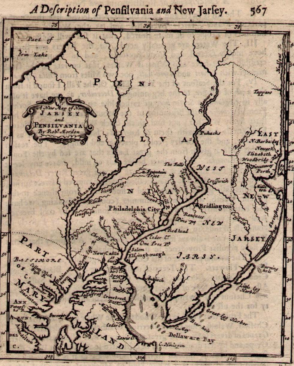 Historical Maps Of Pennsylvania - Map of pennsylvania