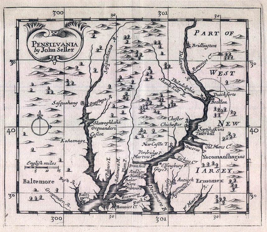 In 1690 John Seller published A New System of Geography, which contains the