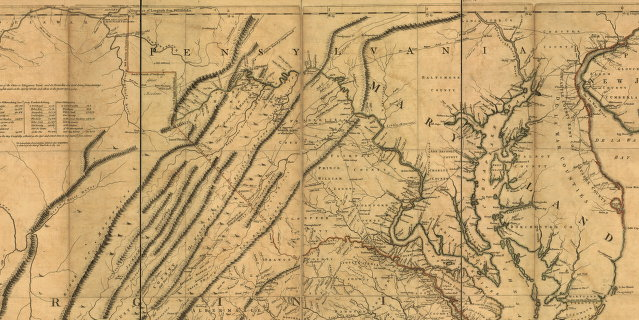 1751 1 A Map Of The Most Inhabited Part Of Virginia Containing The Whole Province Of Maryland With Part Of Pensilvania New Jersey And North Carolina