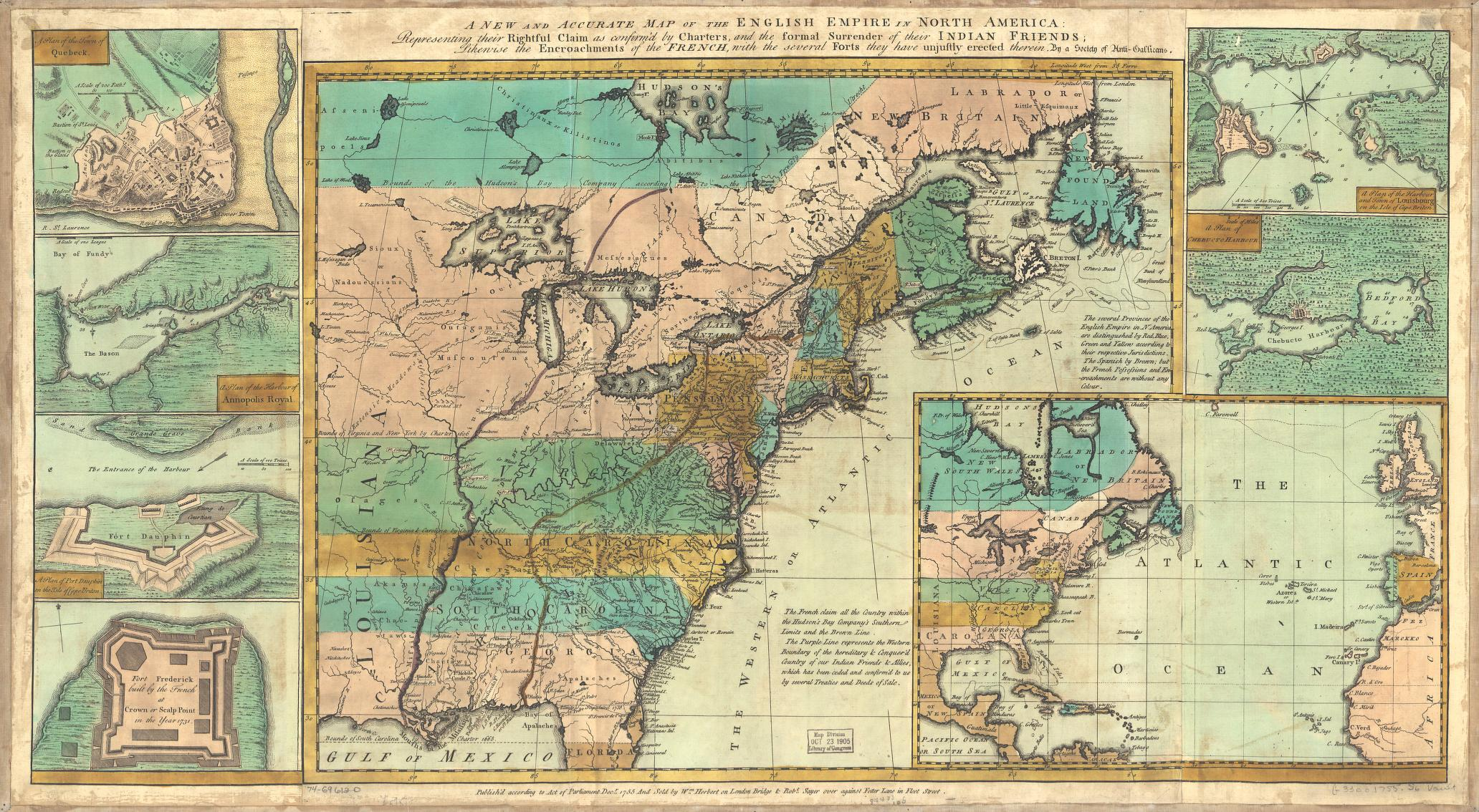 To  Pennsylvania Maps - Map of north america 1700