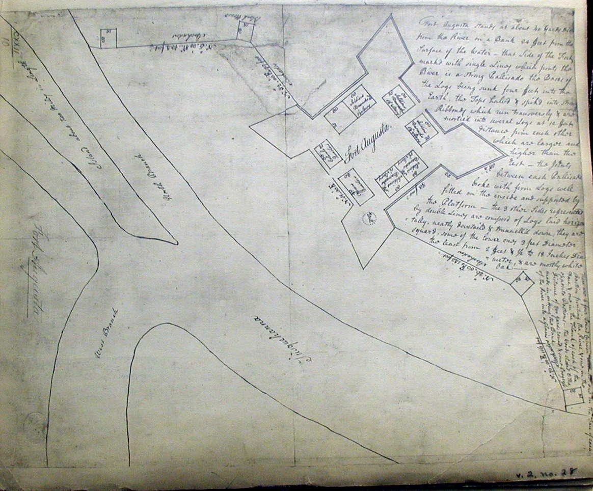 An anonymous manuscript map of the fort