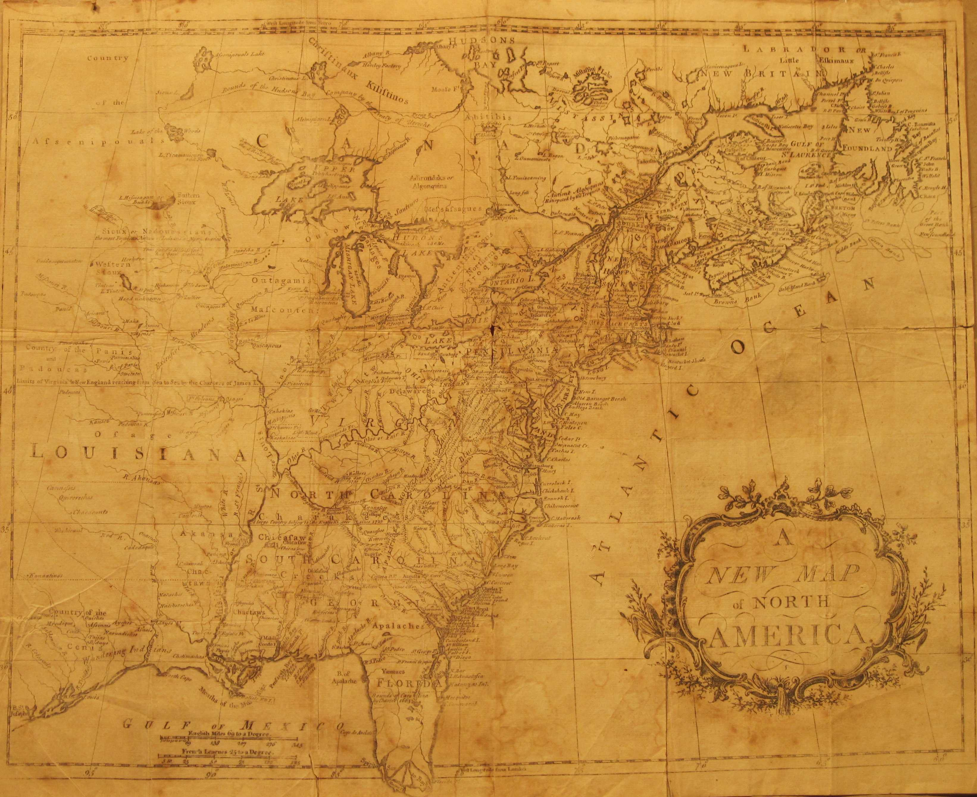 1779 7 A New Map Of North America A Large And Anonymous Map Of The Eastern United States From Newfoundland To Florida Which Extends Beyond The Neat Line