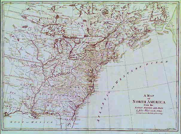 1768 8 A Map Of North America From The Latest Surveys And Maps By John Blair Lld F R S As A Supplement To His Tables Of Chronology Another Map Of The
