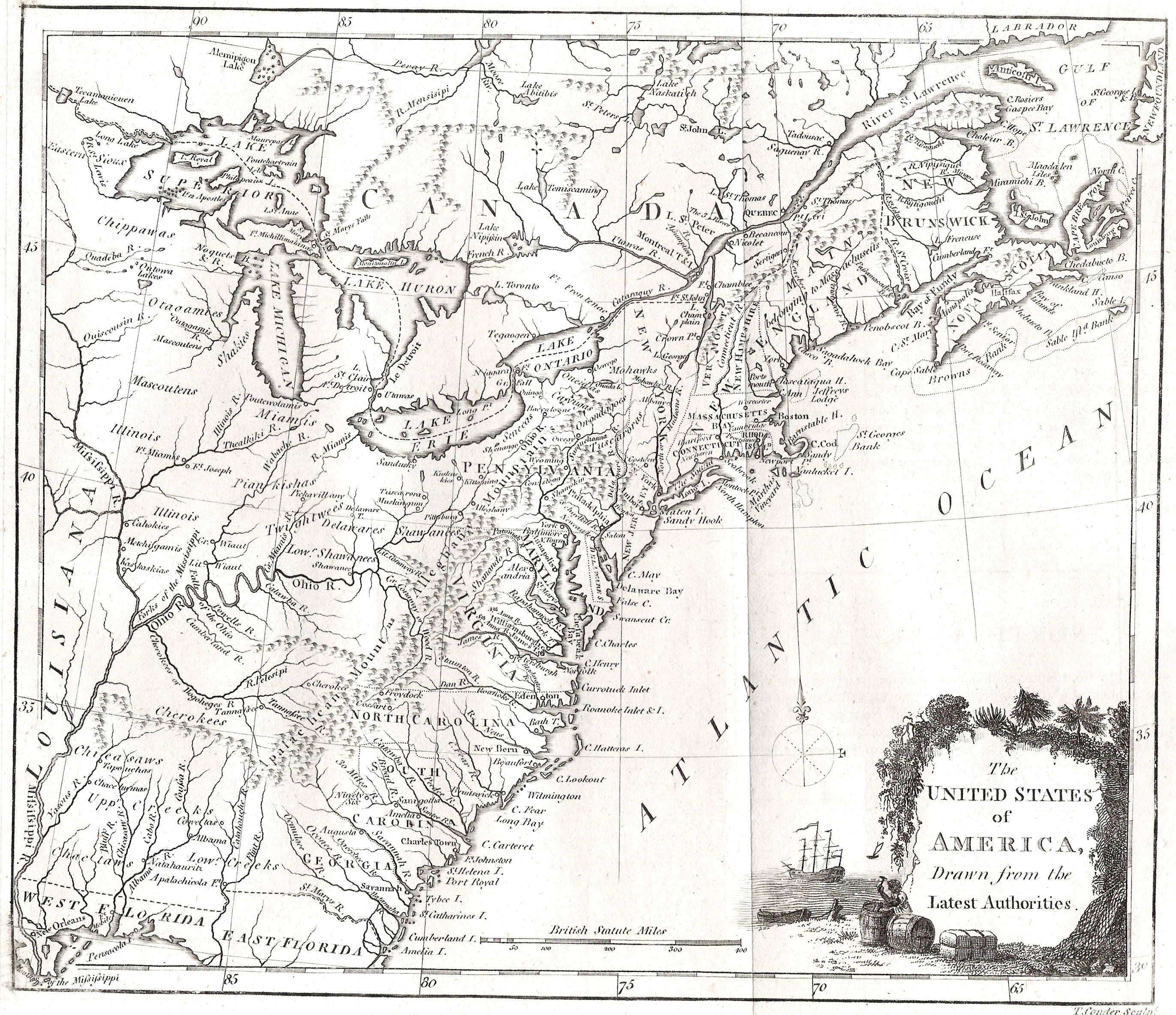 To Pennsylvania Maps - The us map 1790
