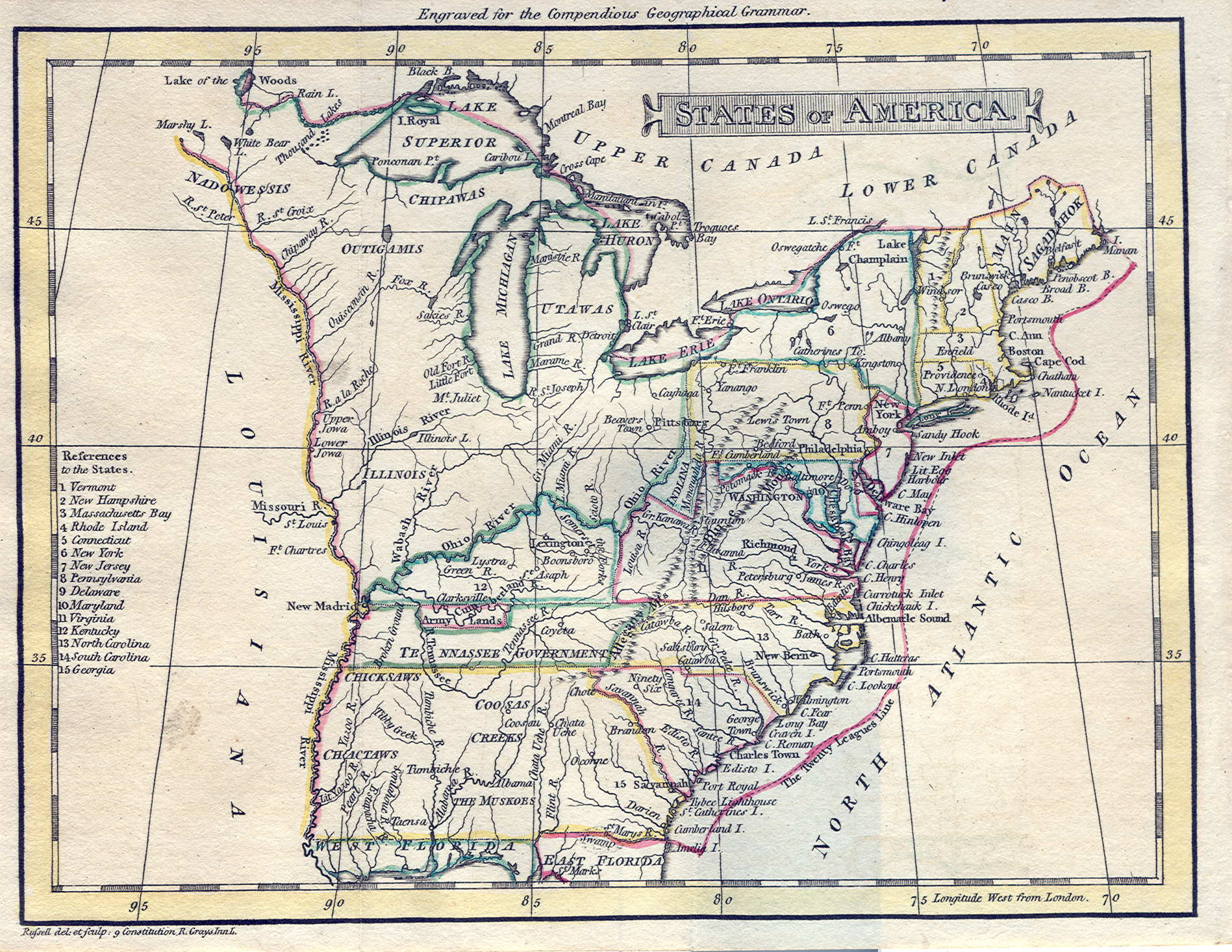 1795 to 1799 pennsylvania maps states hinton john howard hinton to pennsylvania maps us map 1799 sciox Choice Image