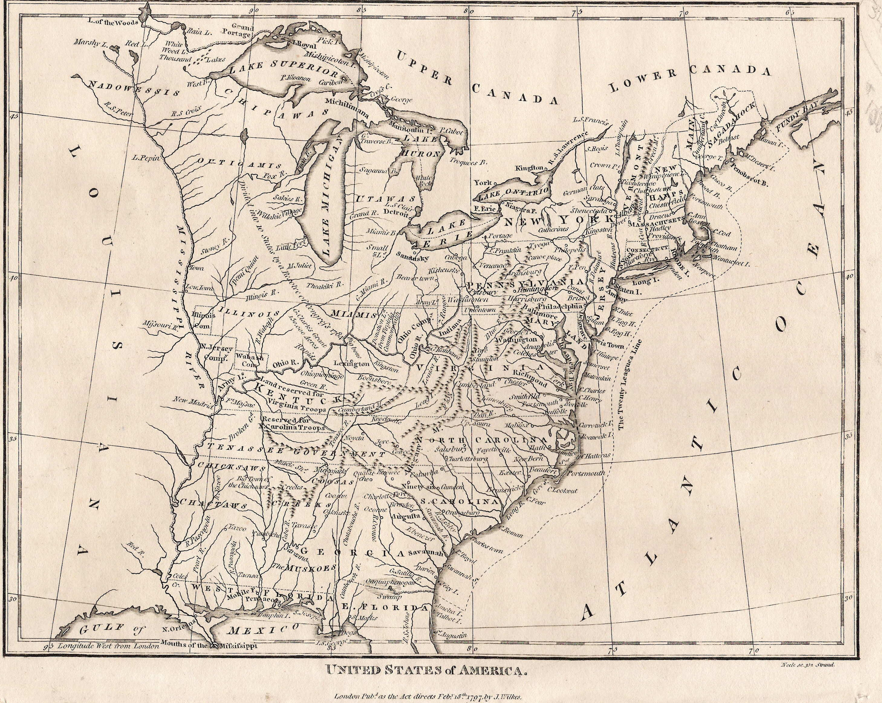 To Pennsylvania Maps - Us map 1800s blank