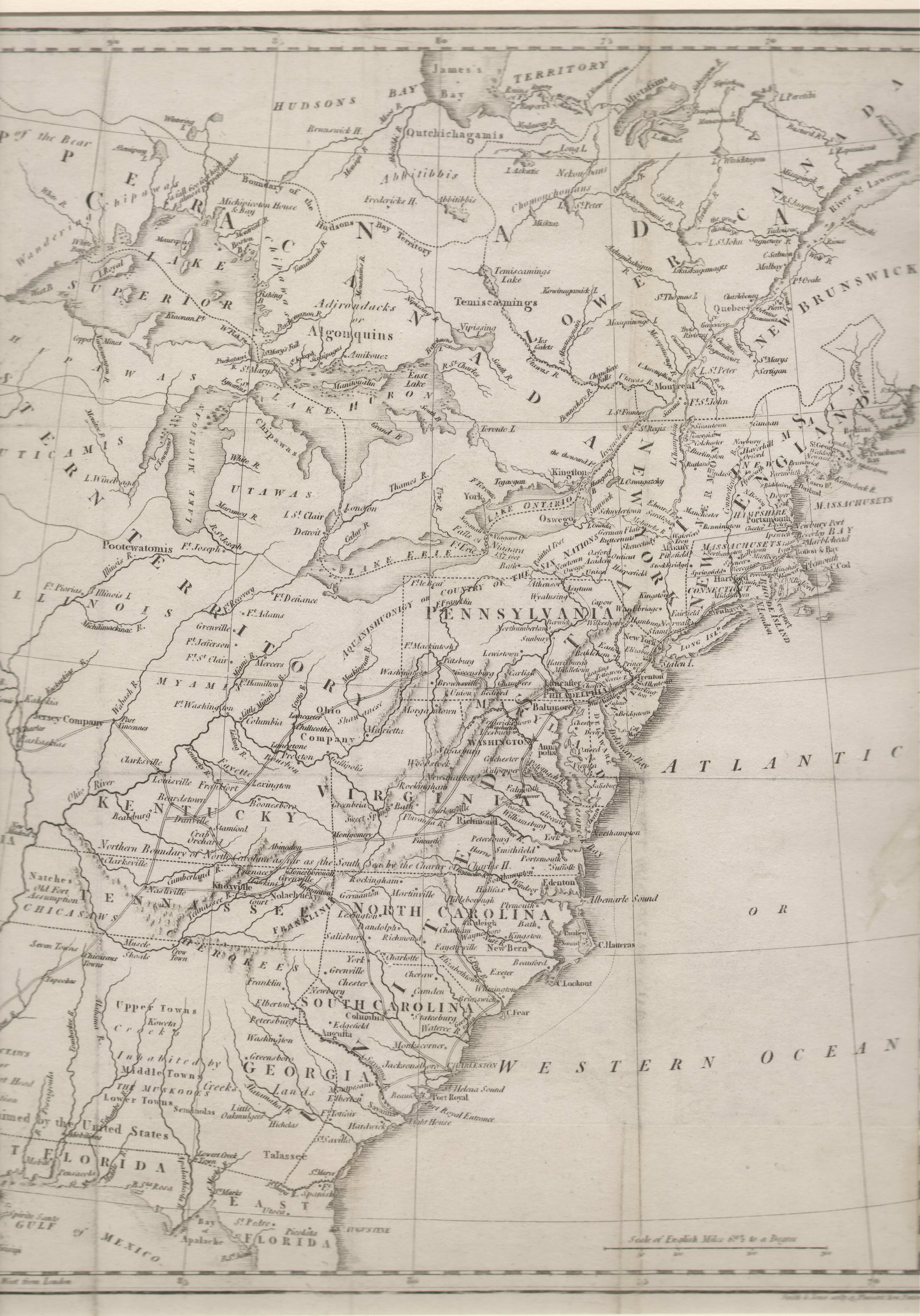 To  Pennsylvania Maps - Map of usa and canada east coast