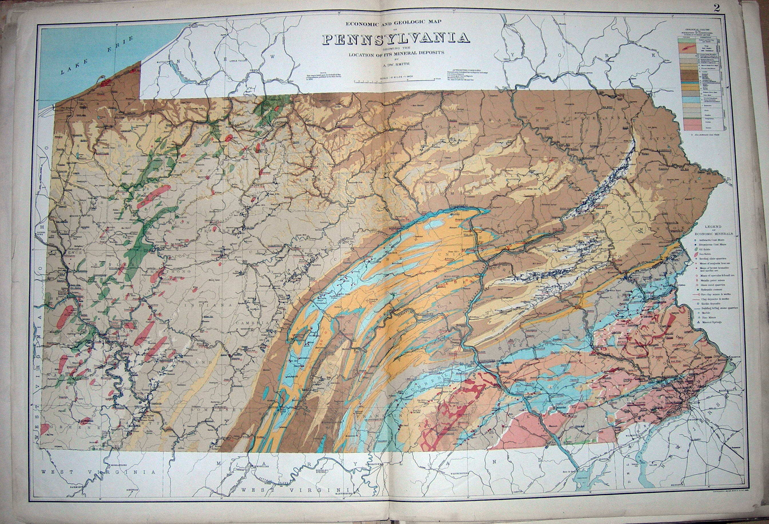 A folded in Pennsylvania map is Plate 1