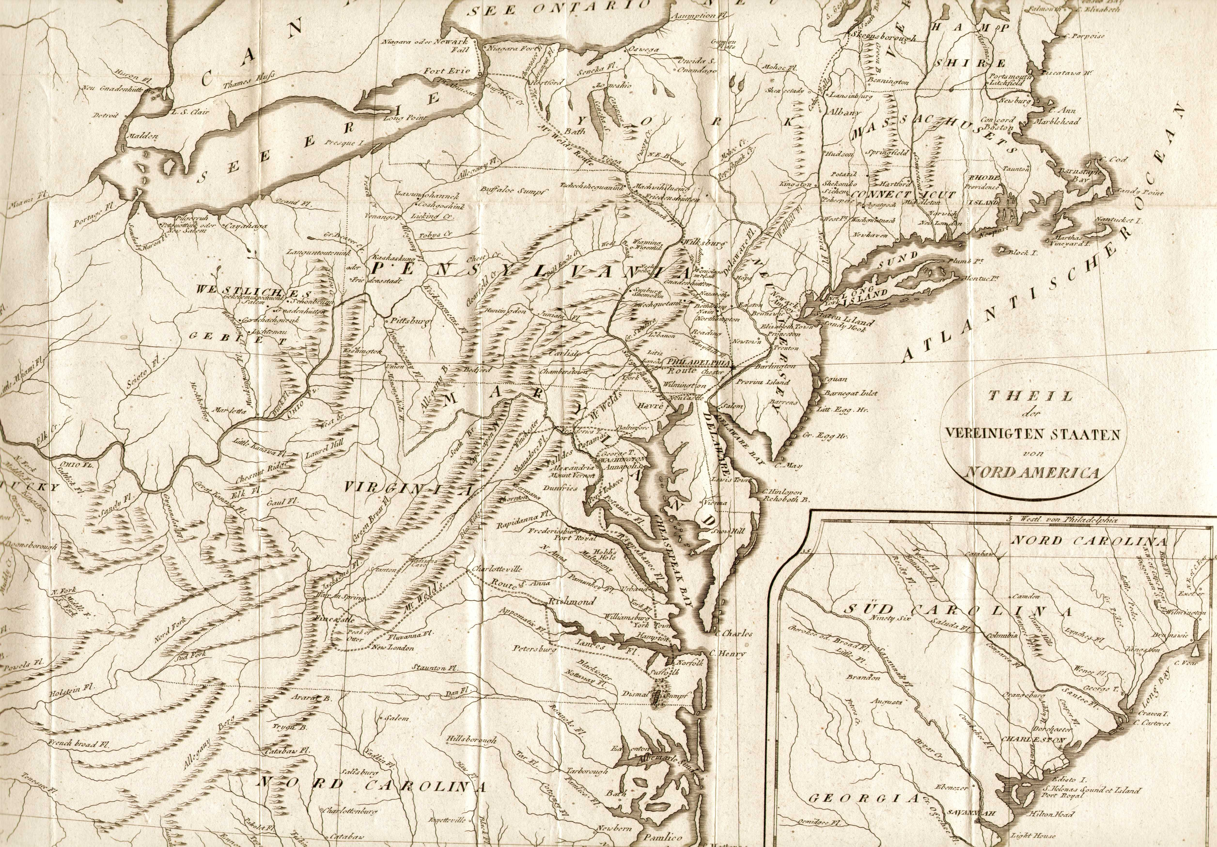 S Pennsylvania Maps - Us in 1800 black and white map