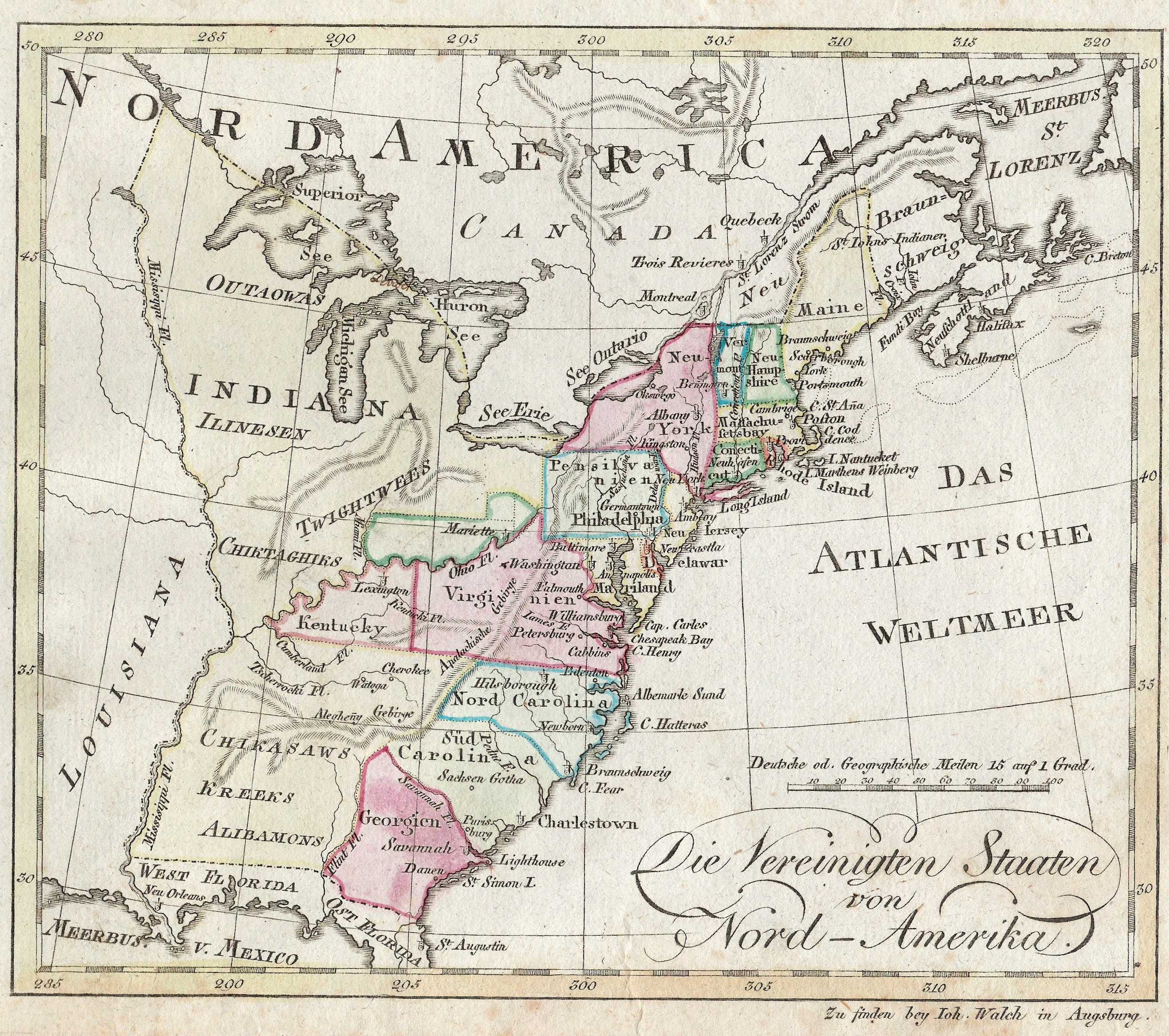 S Pennsylvania Maps - Map of the us in 1800