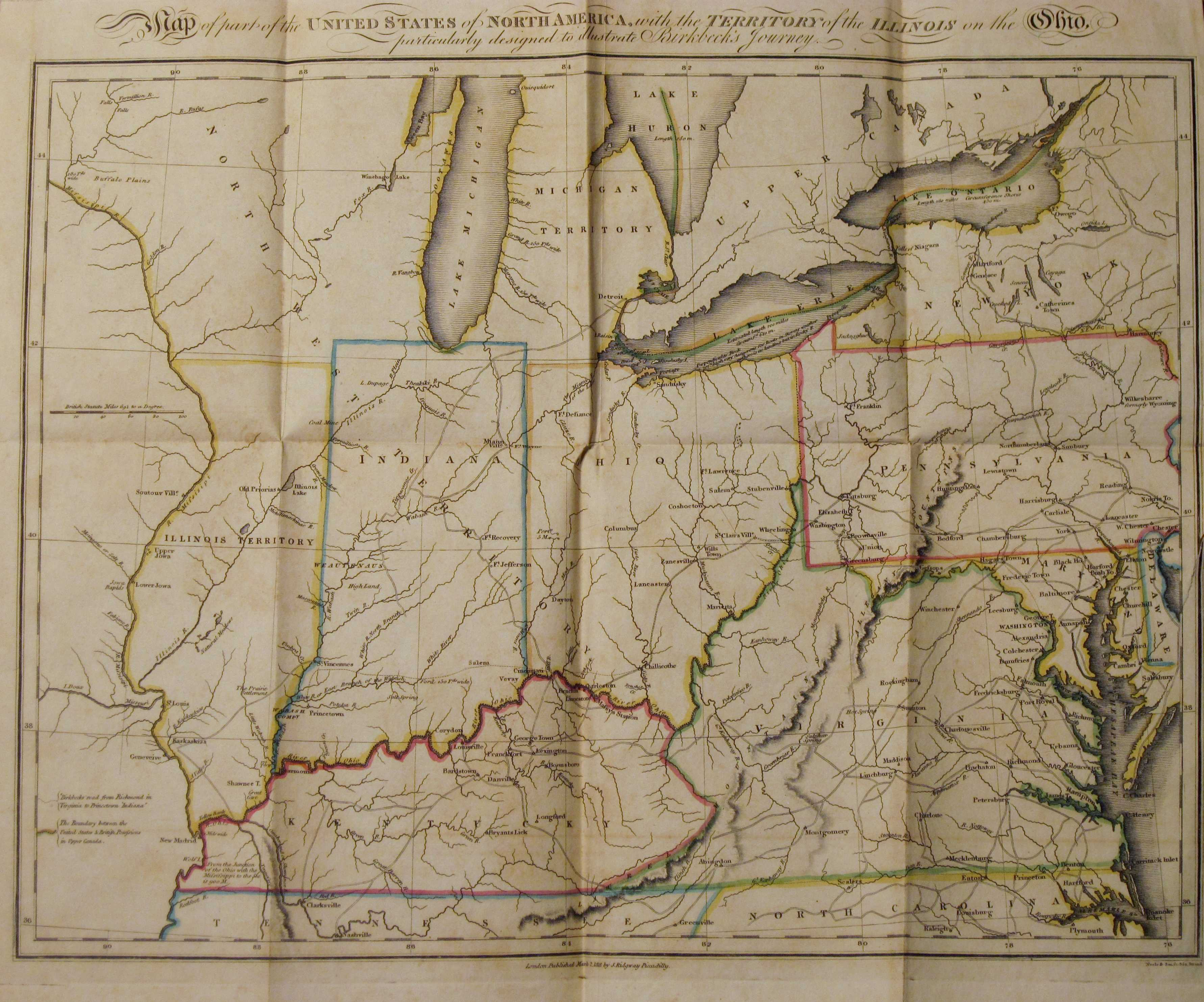 18183 MAP OF PARTS OF THE UNITED