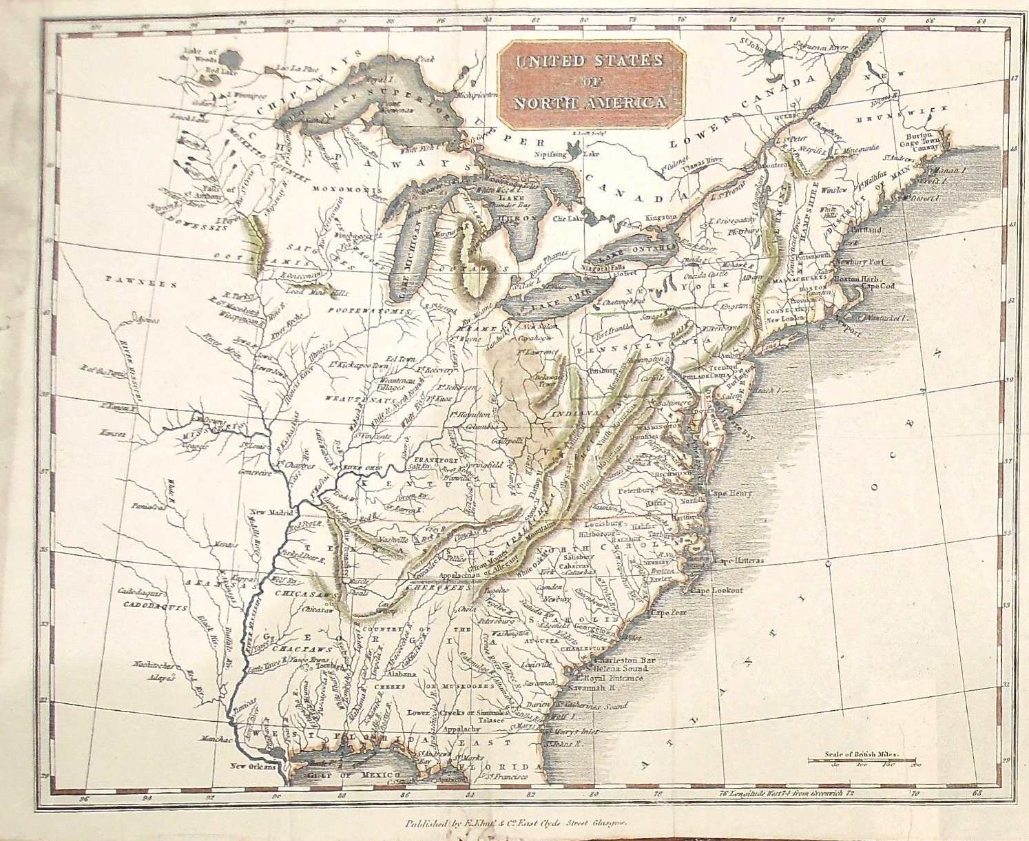 S Pennsylvania Maps - Us map 1819