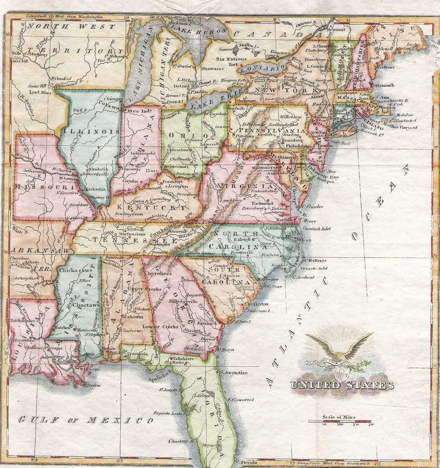 S Pennsylvania Maps - 1830 us map