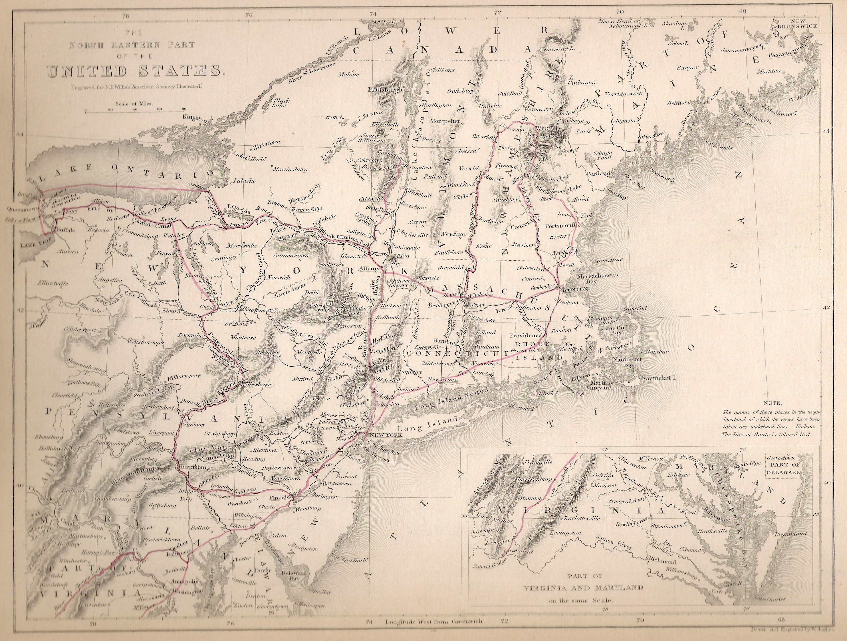 S Pennsylvania Maps - Map of the us in 1840