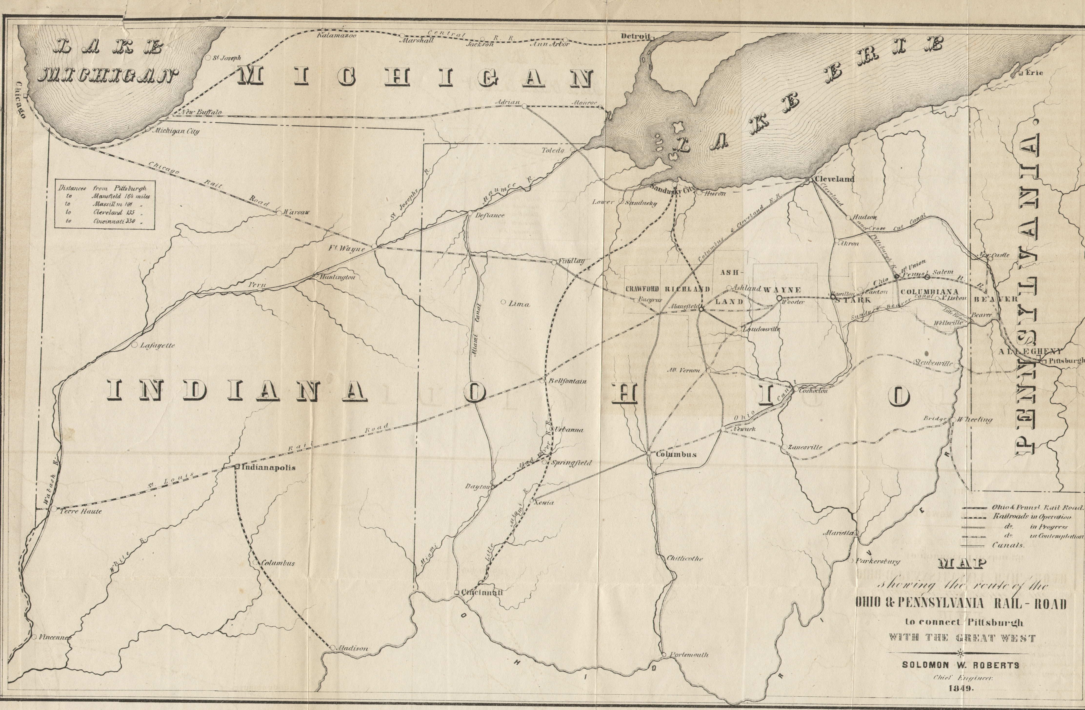 S Pennsylvania Maps - Map of us railroads in 1850