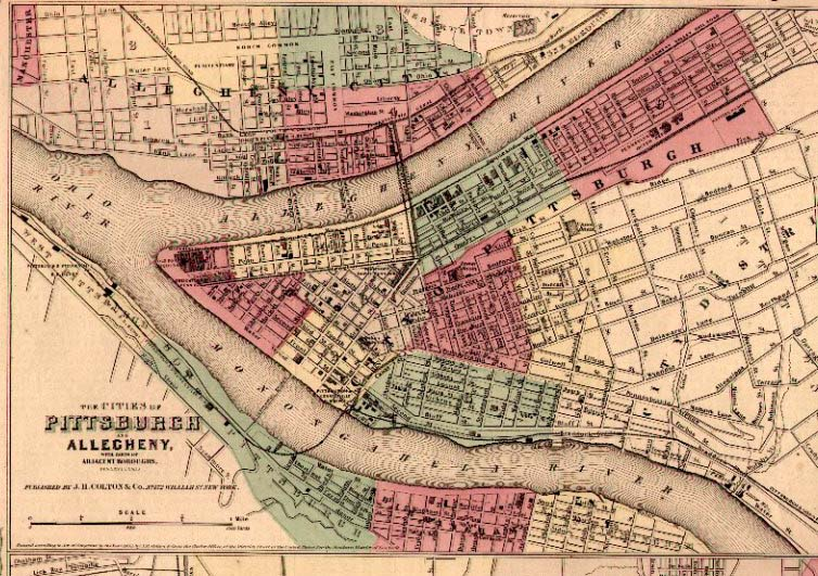 An Overview Of Pennsylvania Mapping Circa To - Steel maps of us cities
