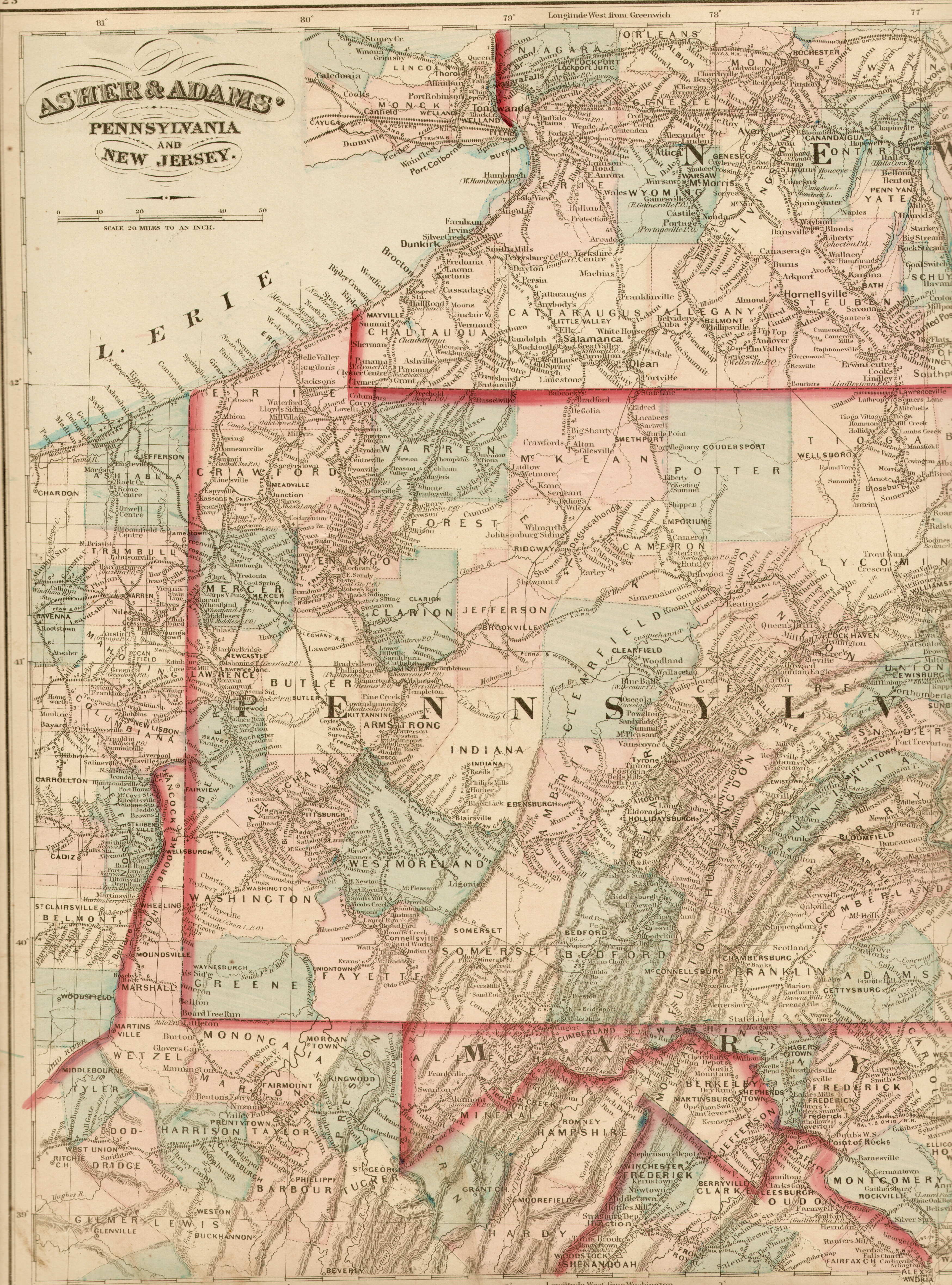 S Pennsylvania Maps - Map of western pa