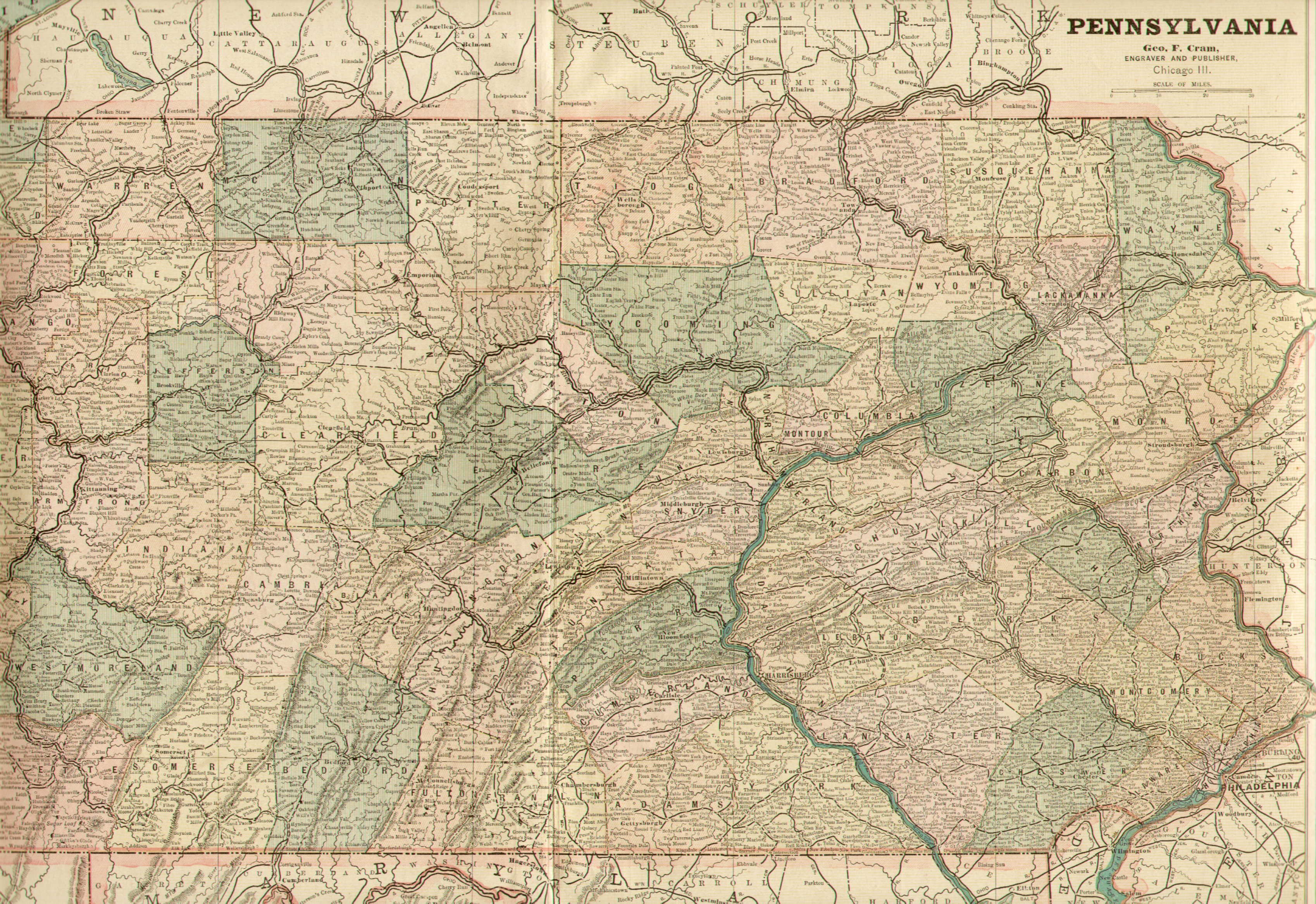 S Pennsylvania Maps - Map of pa towns