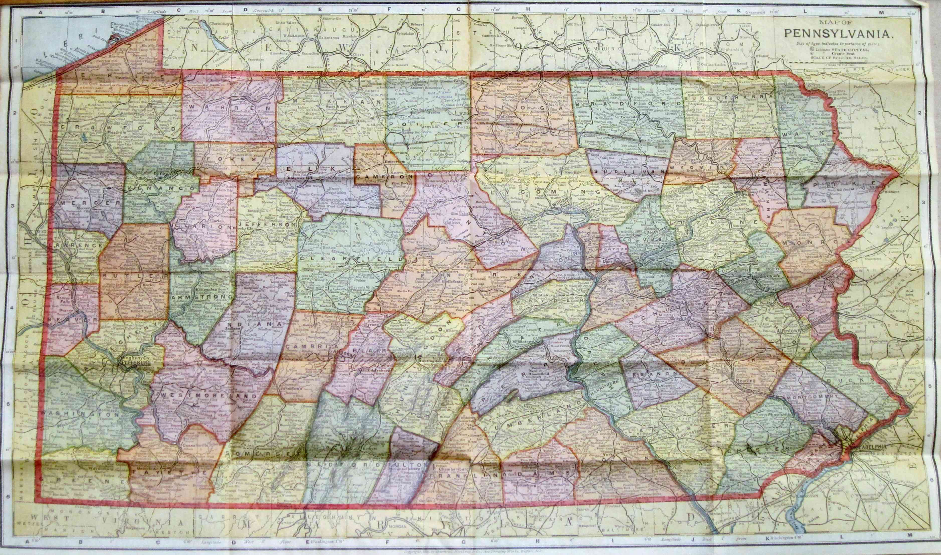 S Pennsylvania Maps - Detailed map of pa