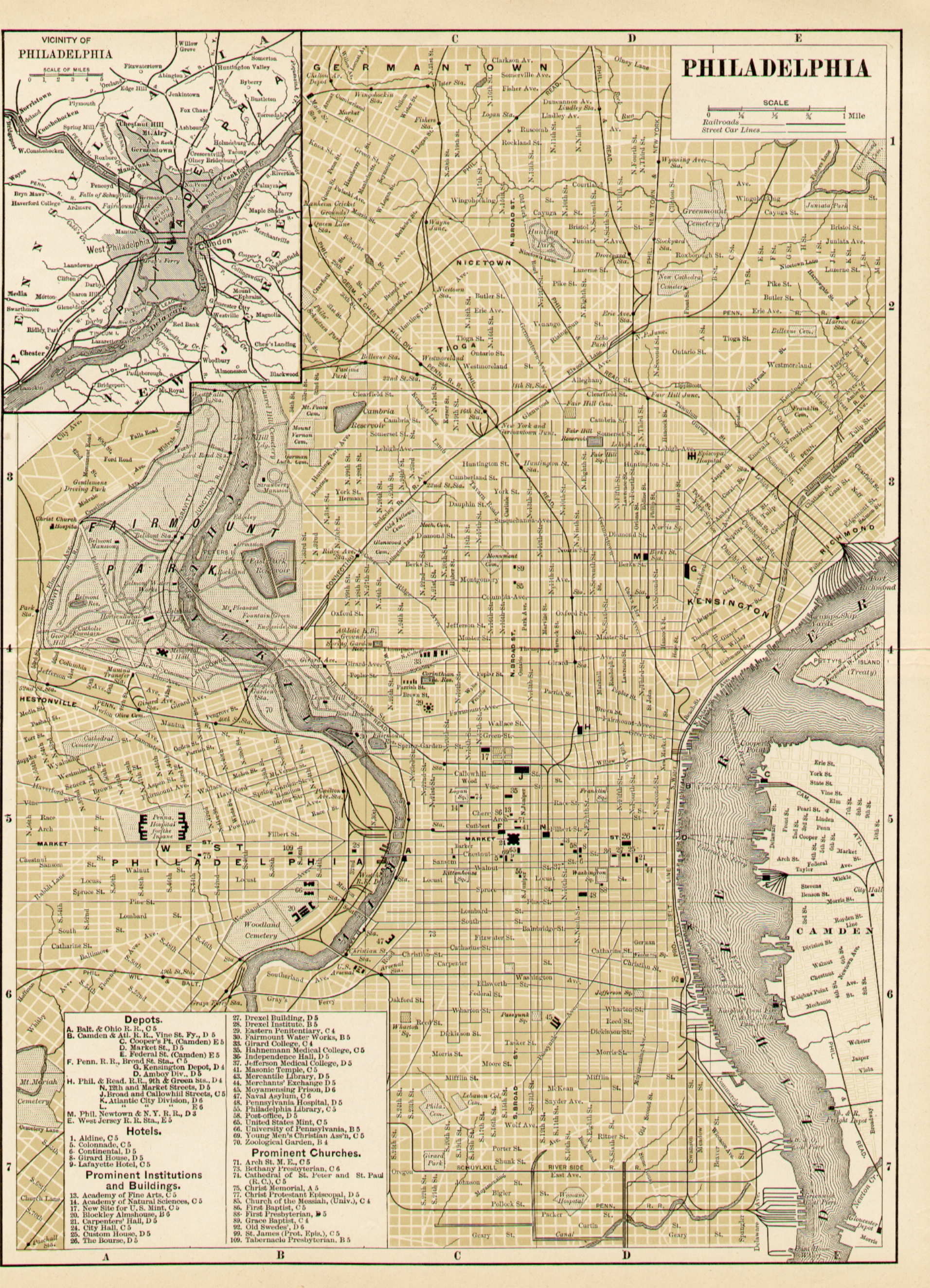 1890s Pennsylvania Maps