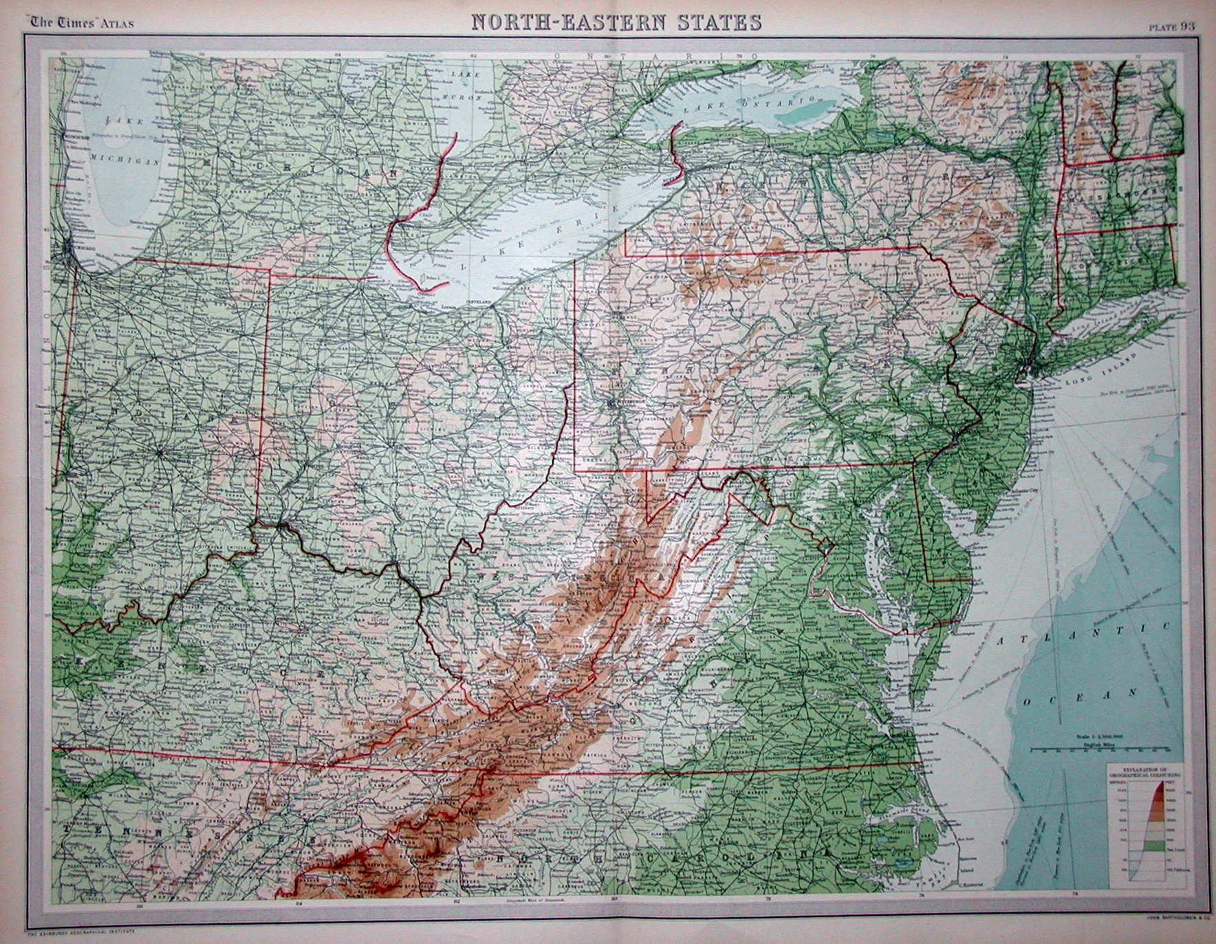 S Pennsylvania Maps - 1920s north eastern us map
