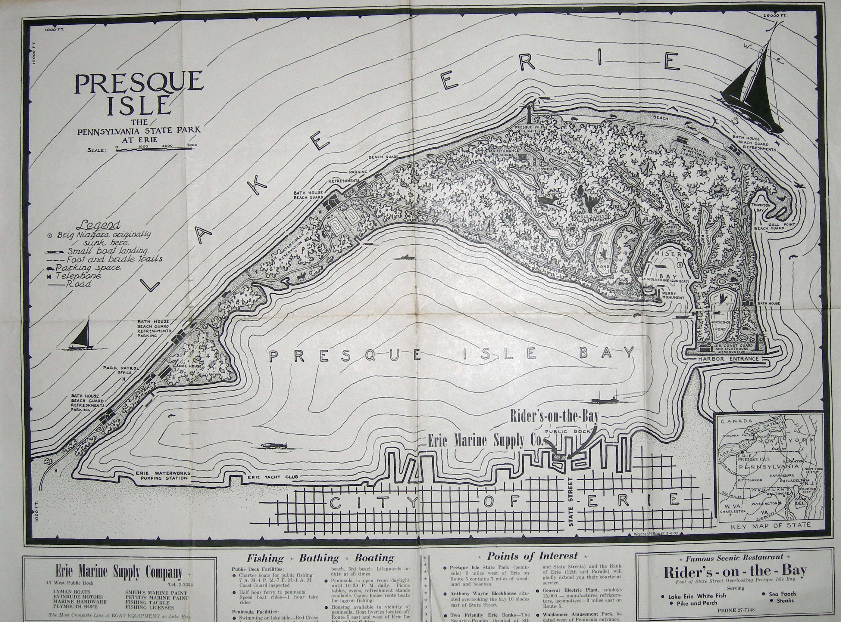 Map Of Presque Isle Pa Pictures To Pin On Pinterest