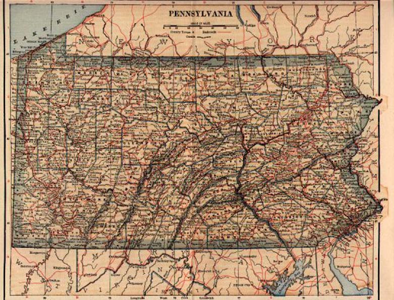 S Pennsylvania Maps - Map of us railroads in 1900