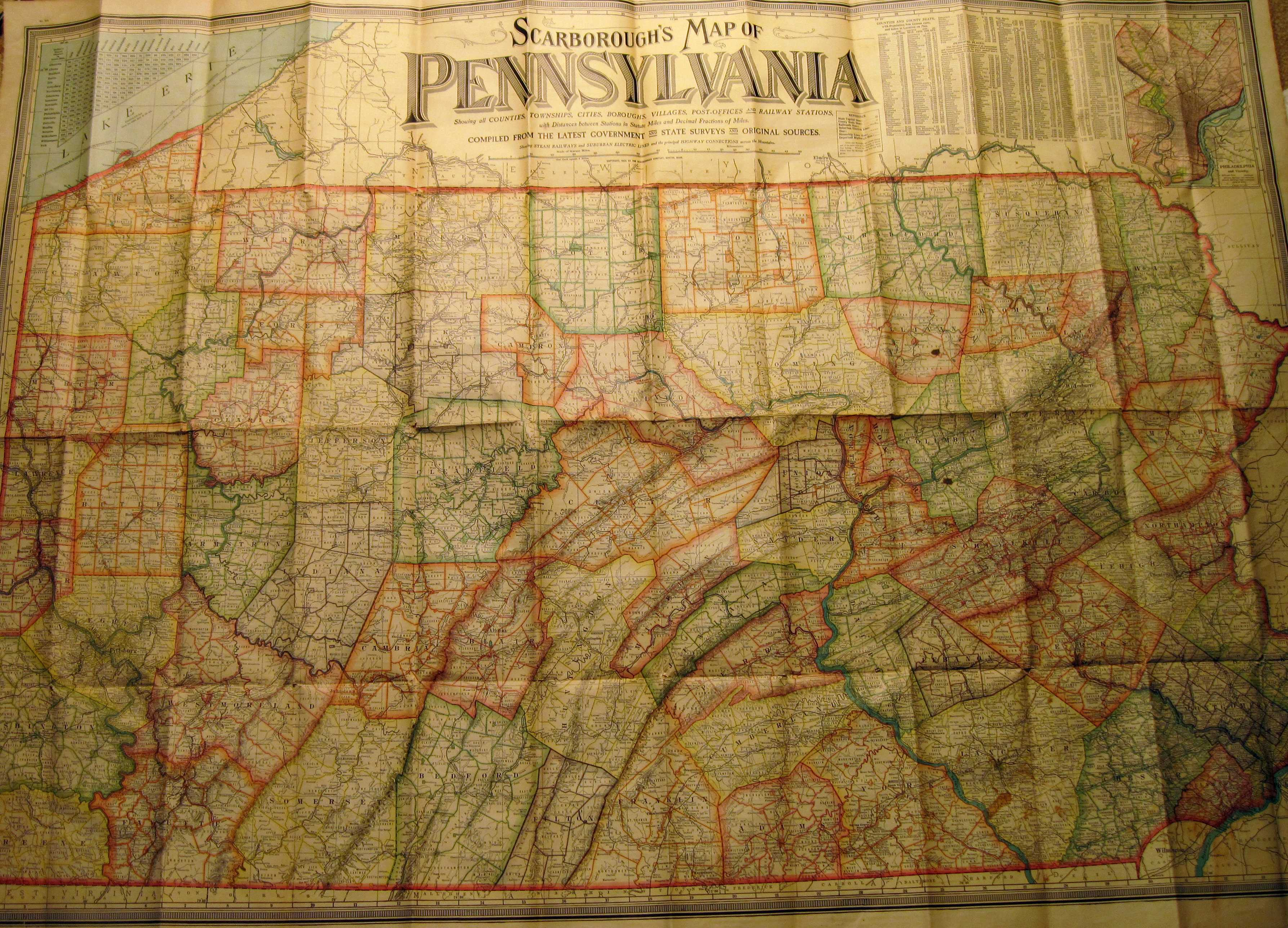 Image of: Pennsylvania In Early Pocket Maps