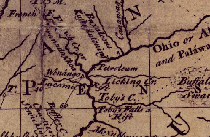 12 For Example The Word Petroleum First Appears On Evans Famous 1755 Map In Two Places