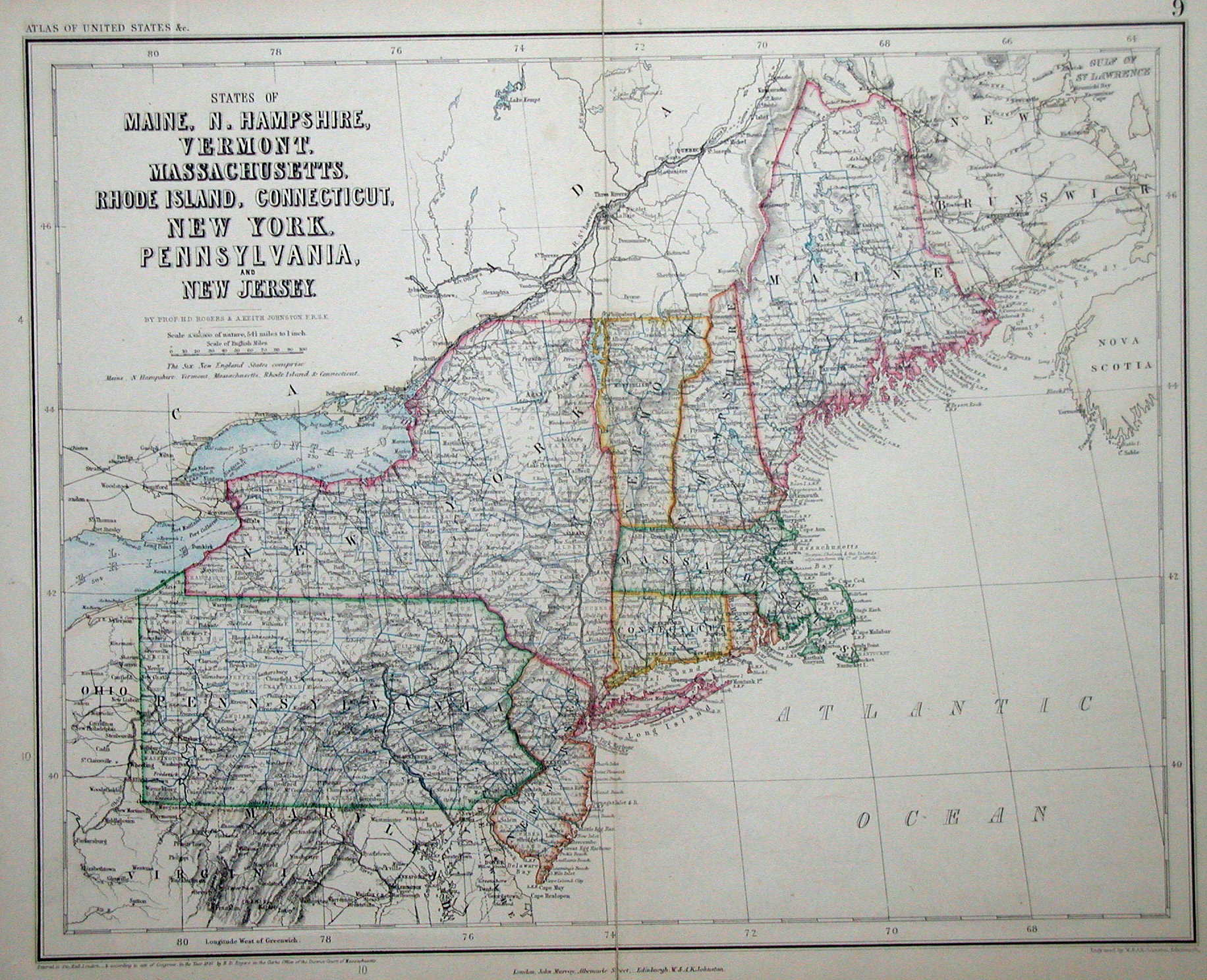 An Overview Of Pennsylvania Mapping Circa To - 1850 map of us