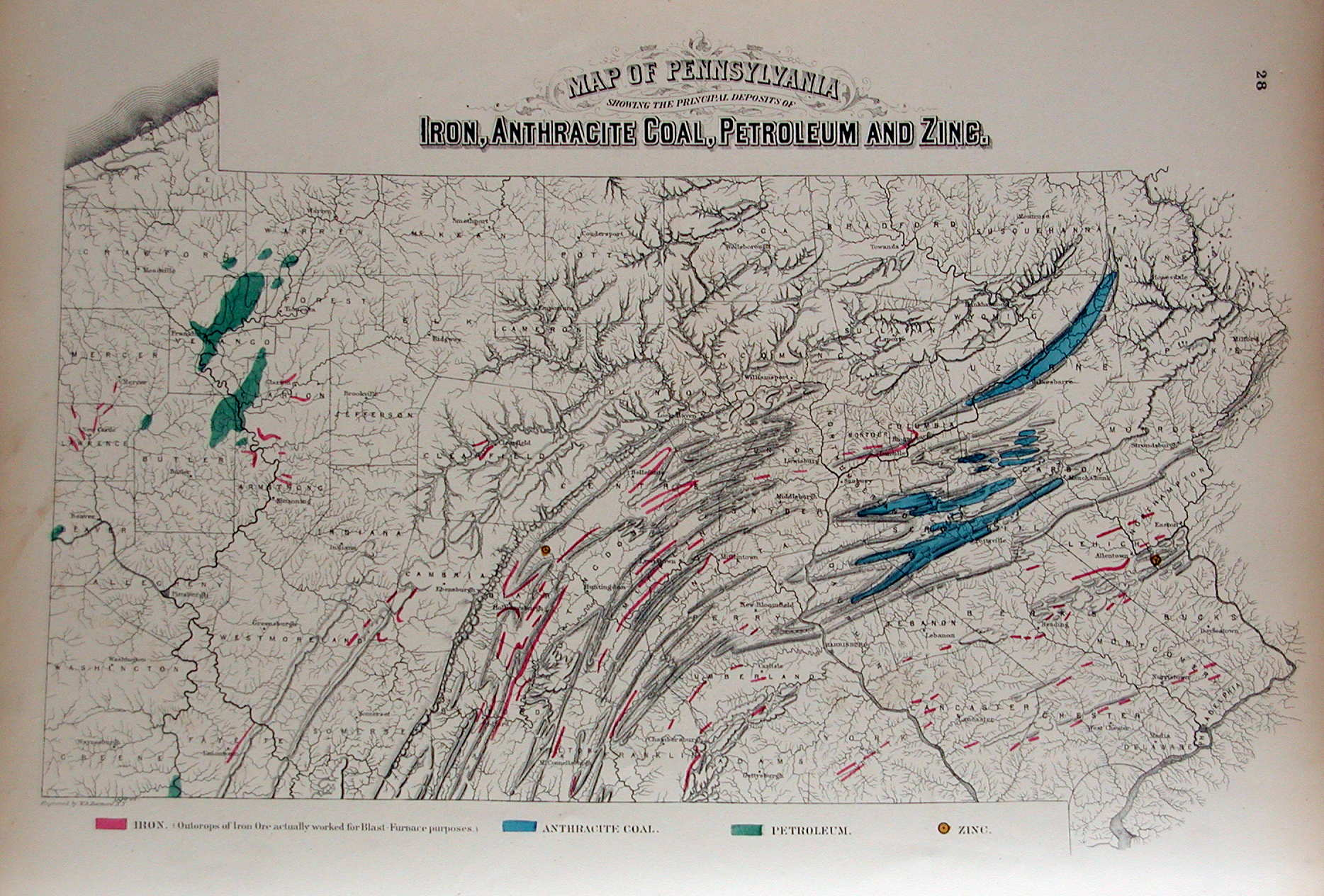 An Overview Of Pennsylvania Mapping Circa To - Us iron ore deposits map