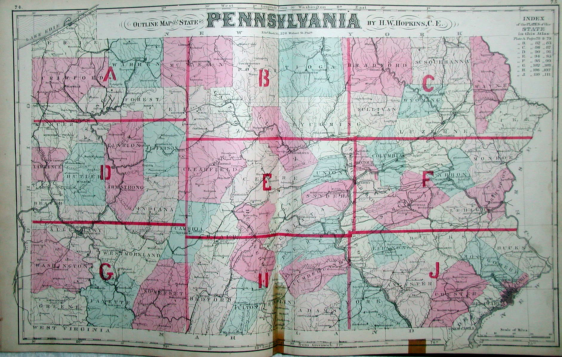An overview of pennsylvania mapping circa 1850 to 1900 five of the classic county atlases published by g m hopkins from 1871 to 1873 contain a large state publicscrutiny Images