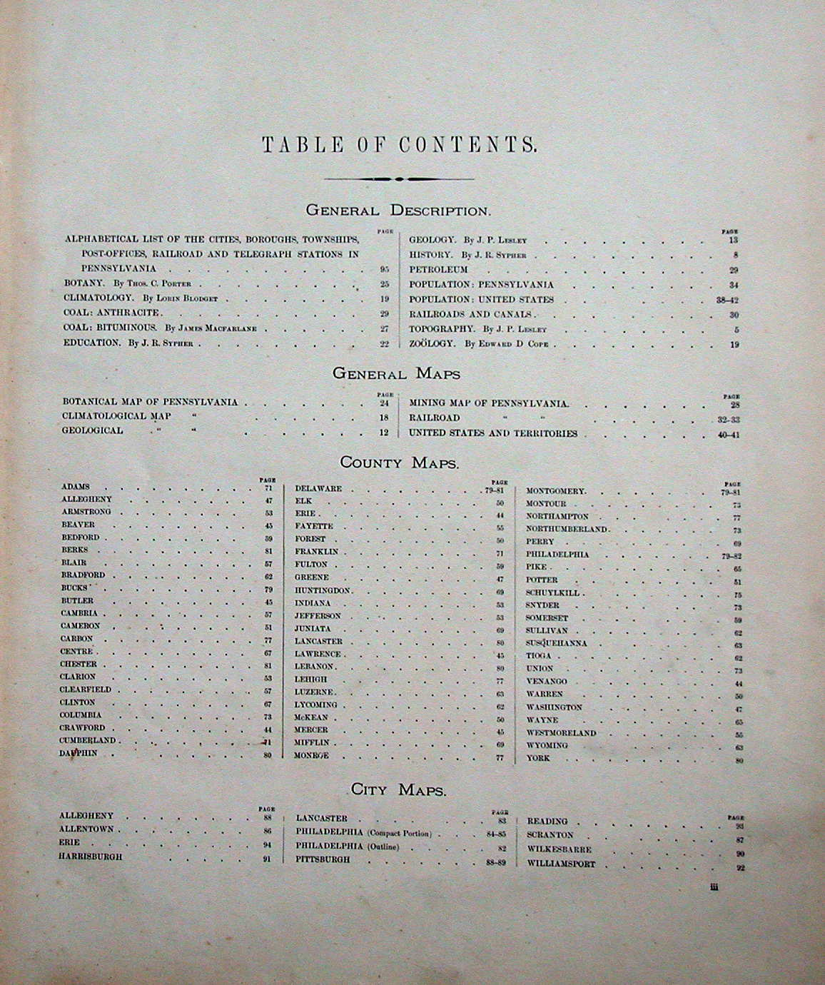 fifty great essays table of contents