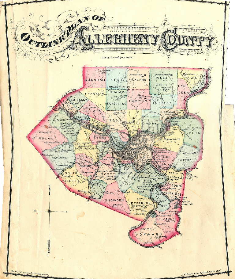 An overview of pennsylvania mapping circa 1850 to 1900 a history of allegheny county 1876 published by l h everts co philadelphia also following the county atlas was the city atlas publicscrutiny Images