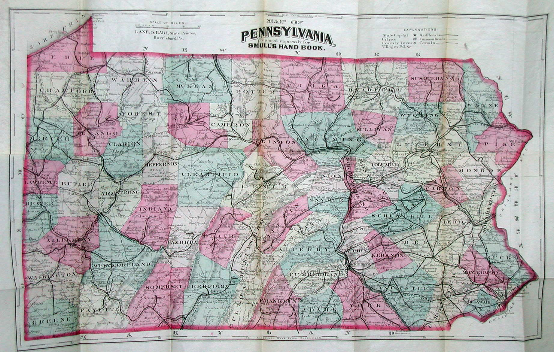 An Overview Of Pennsylvania Mapping Circa To - 1920s north eastern us map