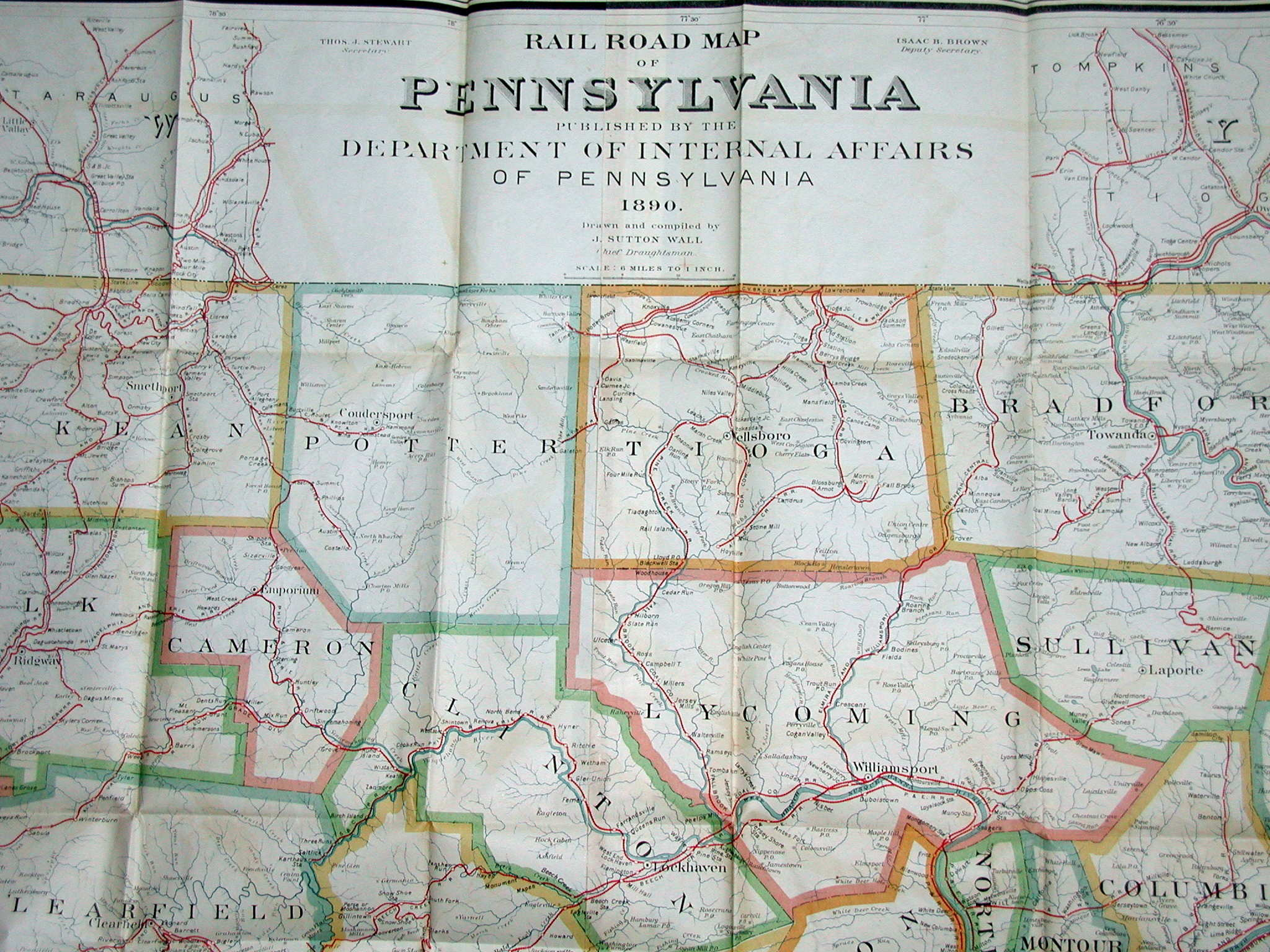 his 1890 railroad map of
