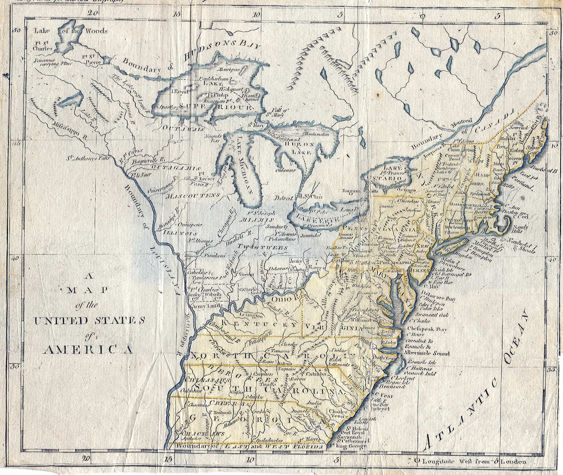 Pennsylvania In Old Geography Books - The us map 1790