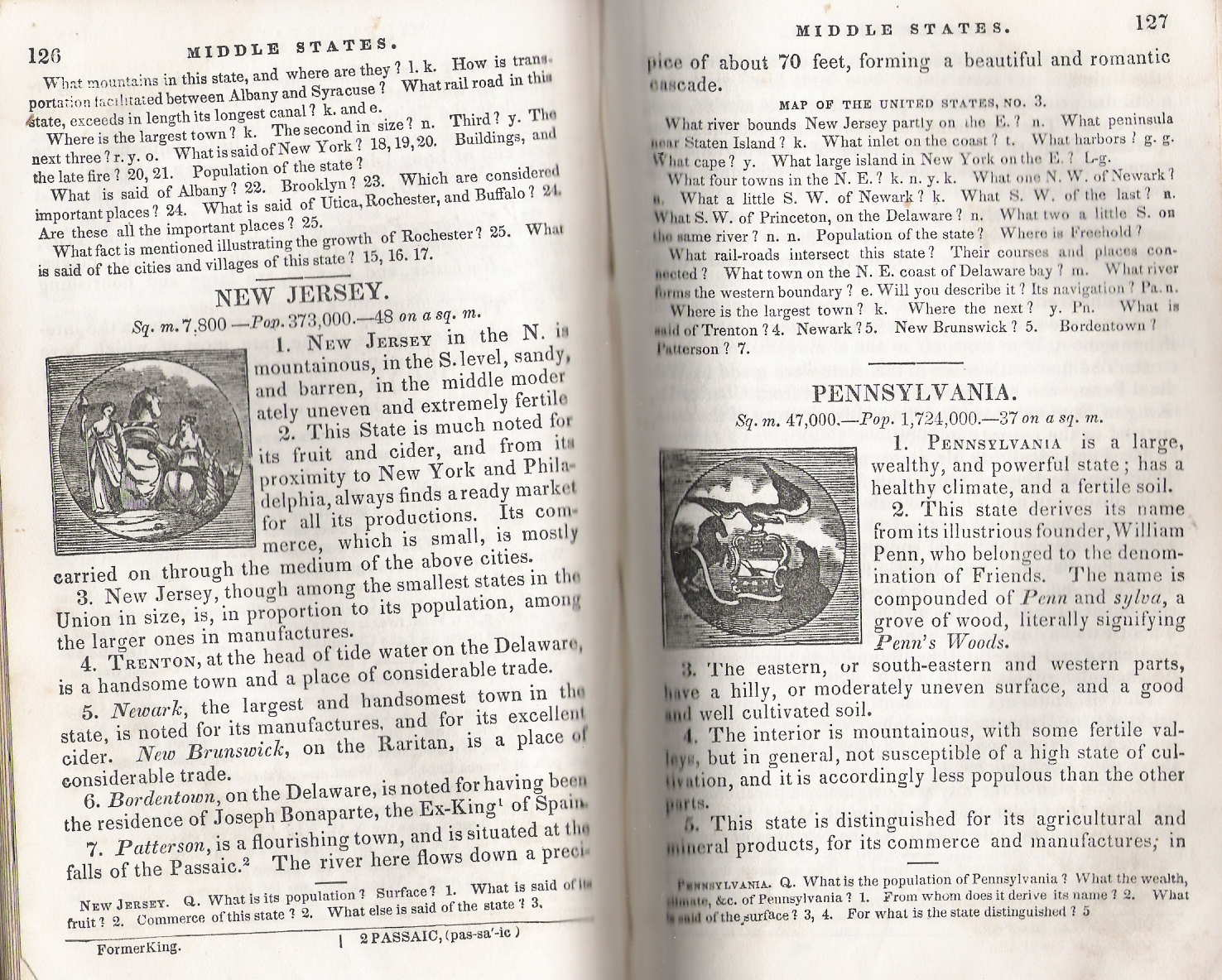 pennsylvania in old geography books 1850 1900