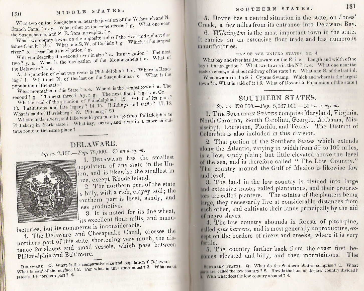 An advertisement indicates the first edition appeared in 1835 with a  revision in 1840, and apparently little or no change in subsequent  printings.