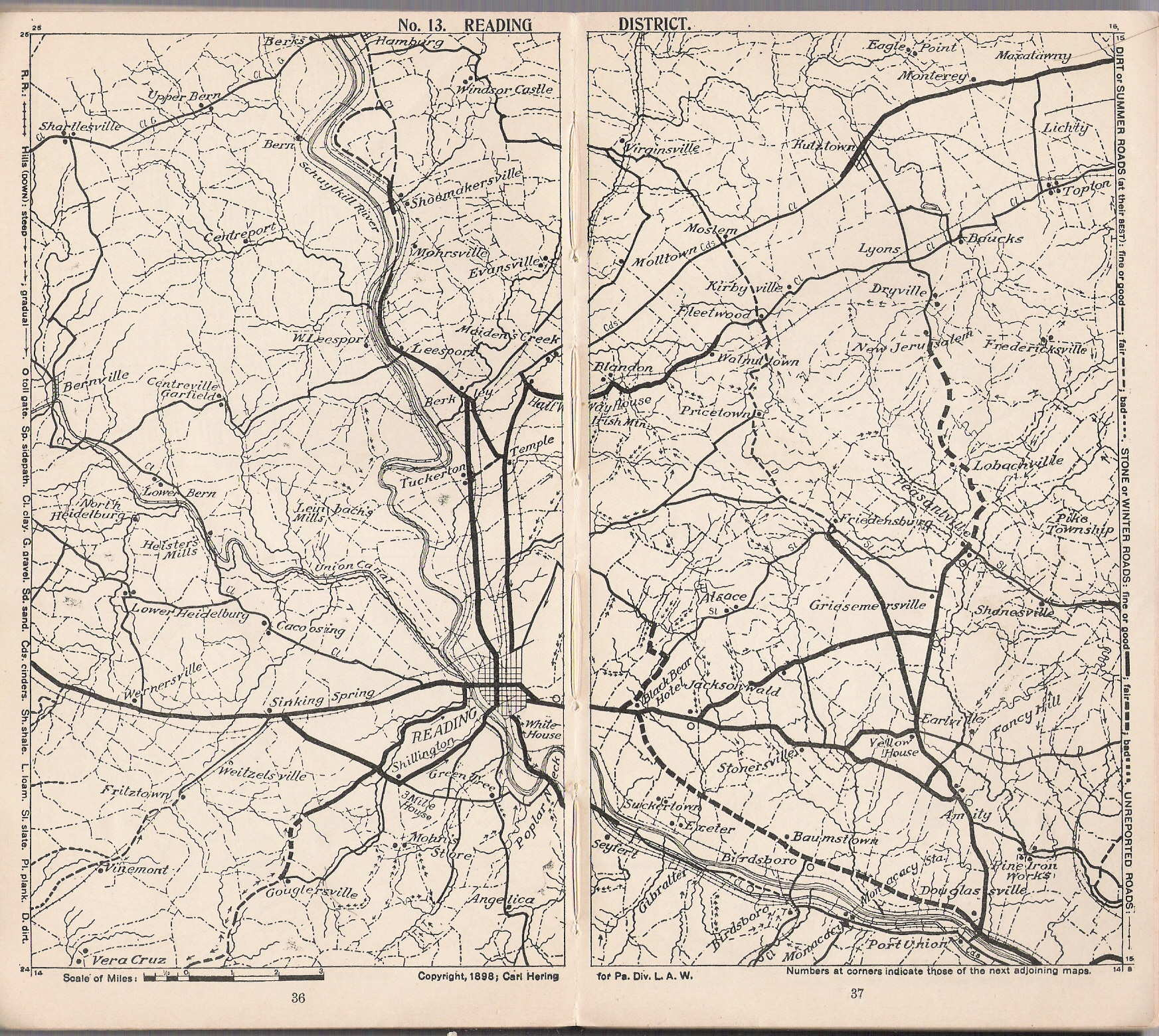 a list of maps and explanation key are given on pages 4 5 road conditions are indicated and some rail lines also shown size 775 x 45 inches 1683