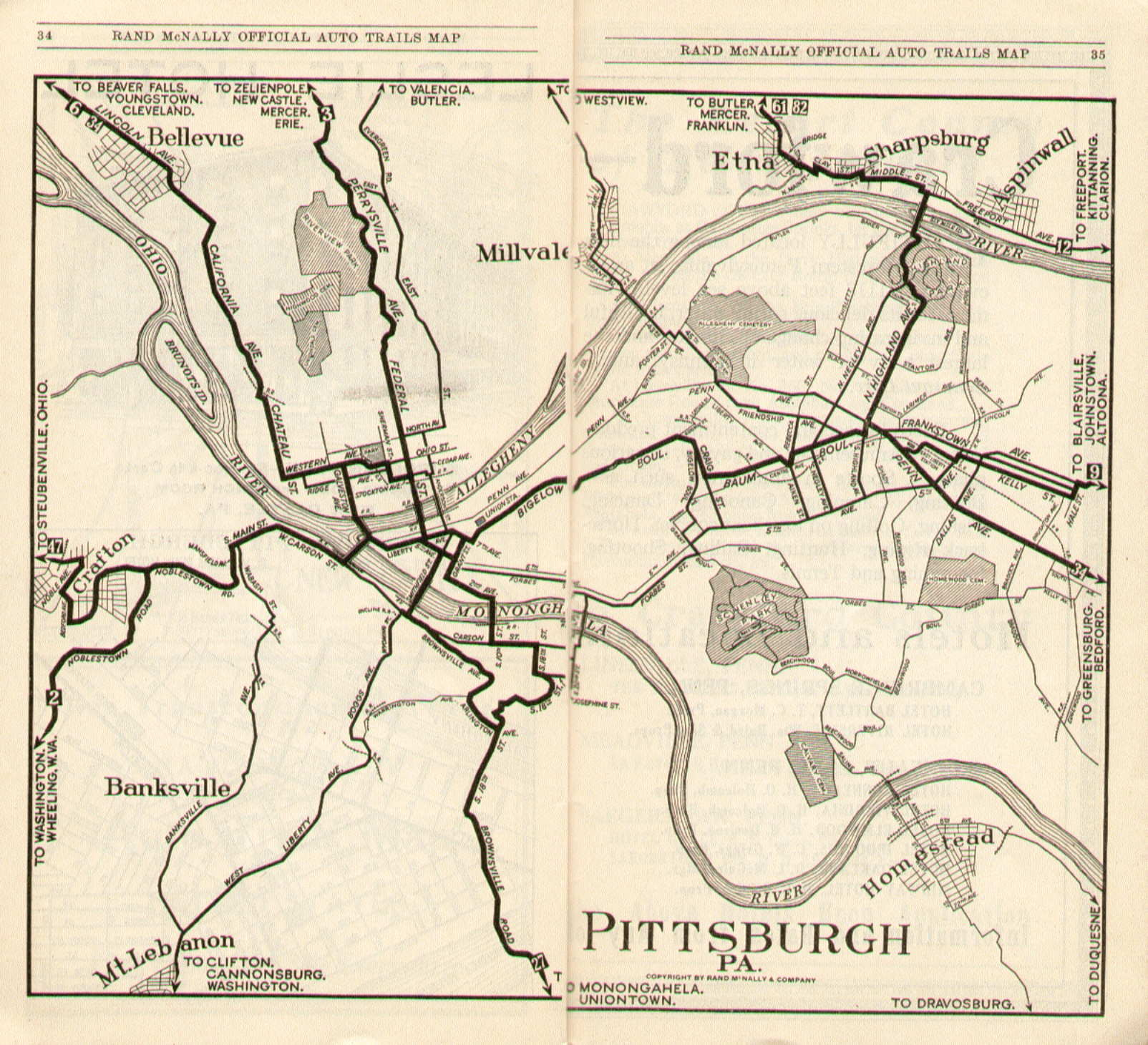 Pennsylvania In Old Road Atlases - The old map company