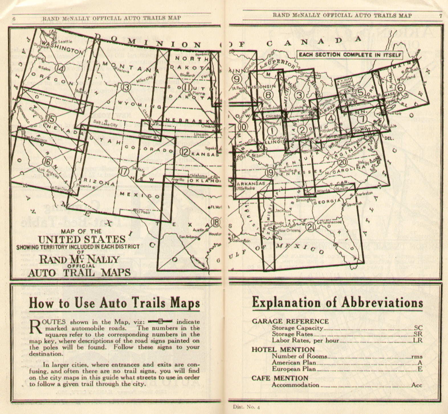 Pennsylvania In Old Road Atlases - Rand mcnally us highway map