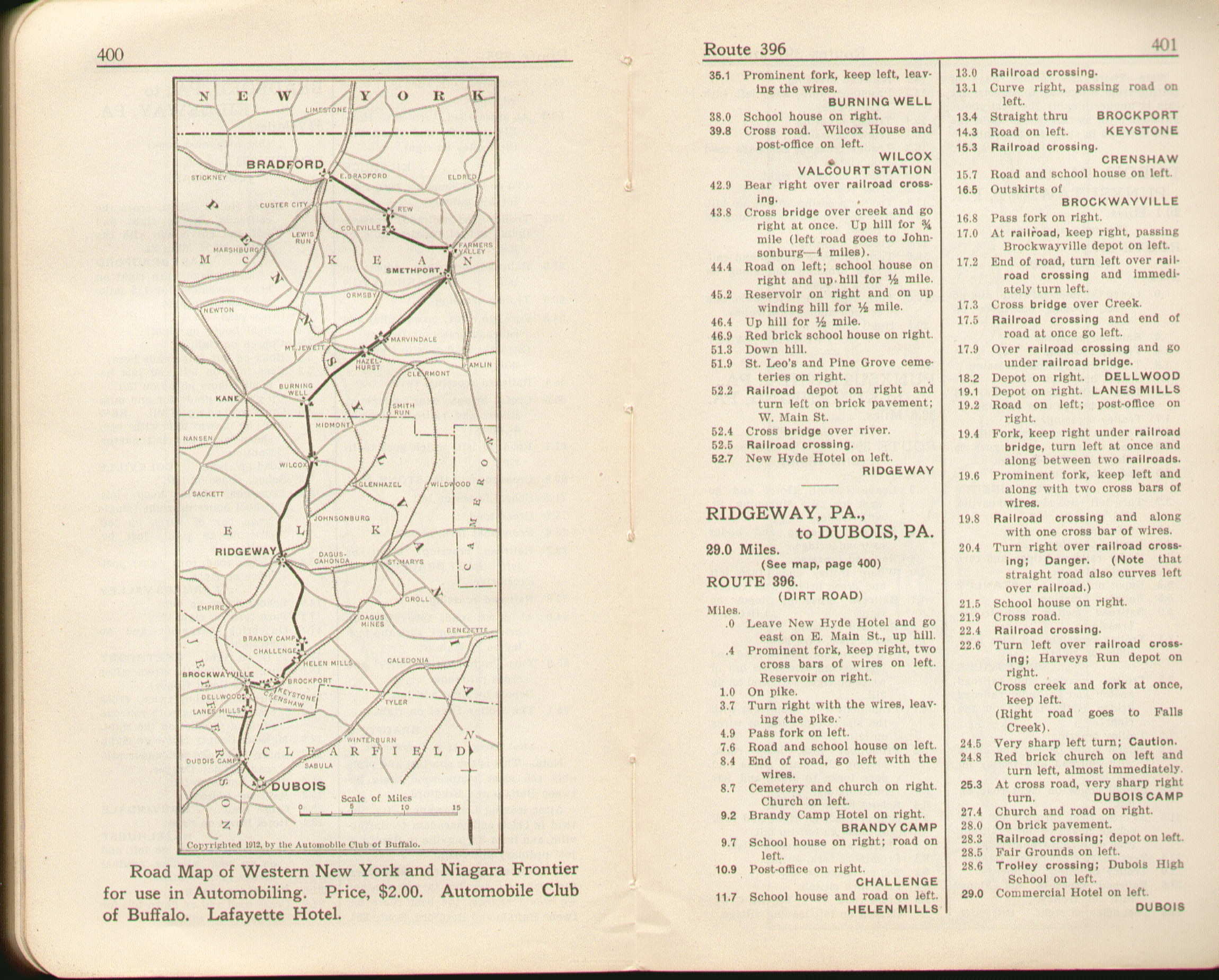 Pennsylvania In Old Road Atlases - 1920 us road map