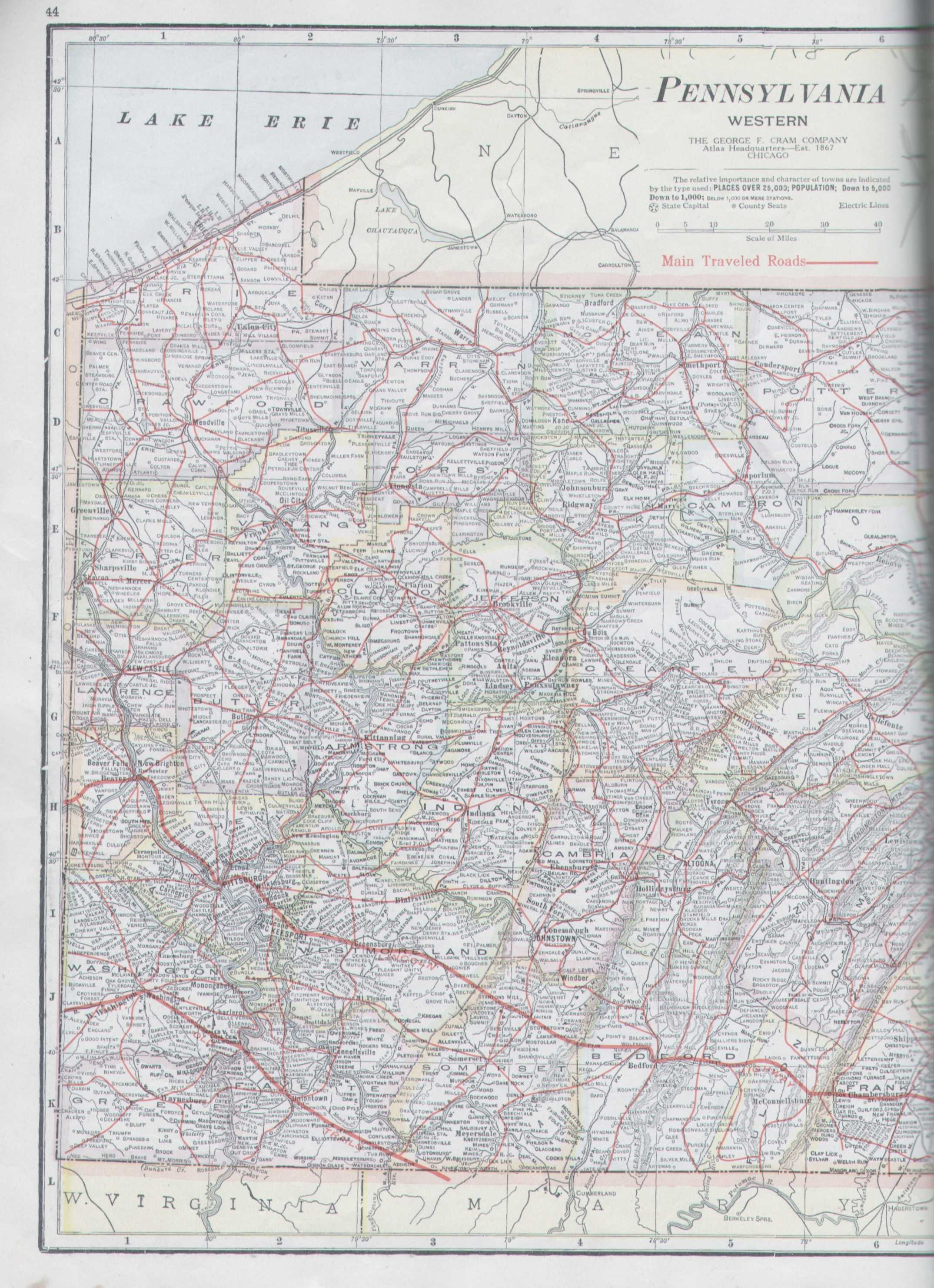 1921 Good Roads Atlas Of The United States The George F Cram Co Chicago This Undated 100 Page Road Atlas And Gazetteer Has 1920 Census Data And Uses