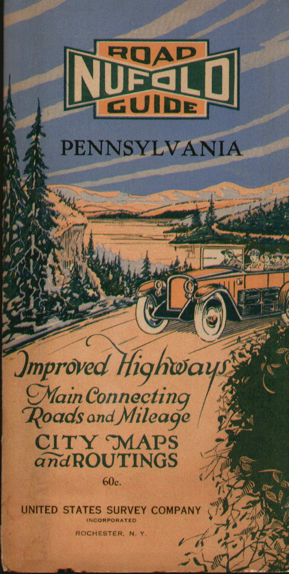 Pennsylvania In Old Road Atlases - Us map 1922