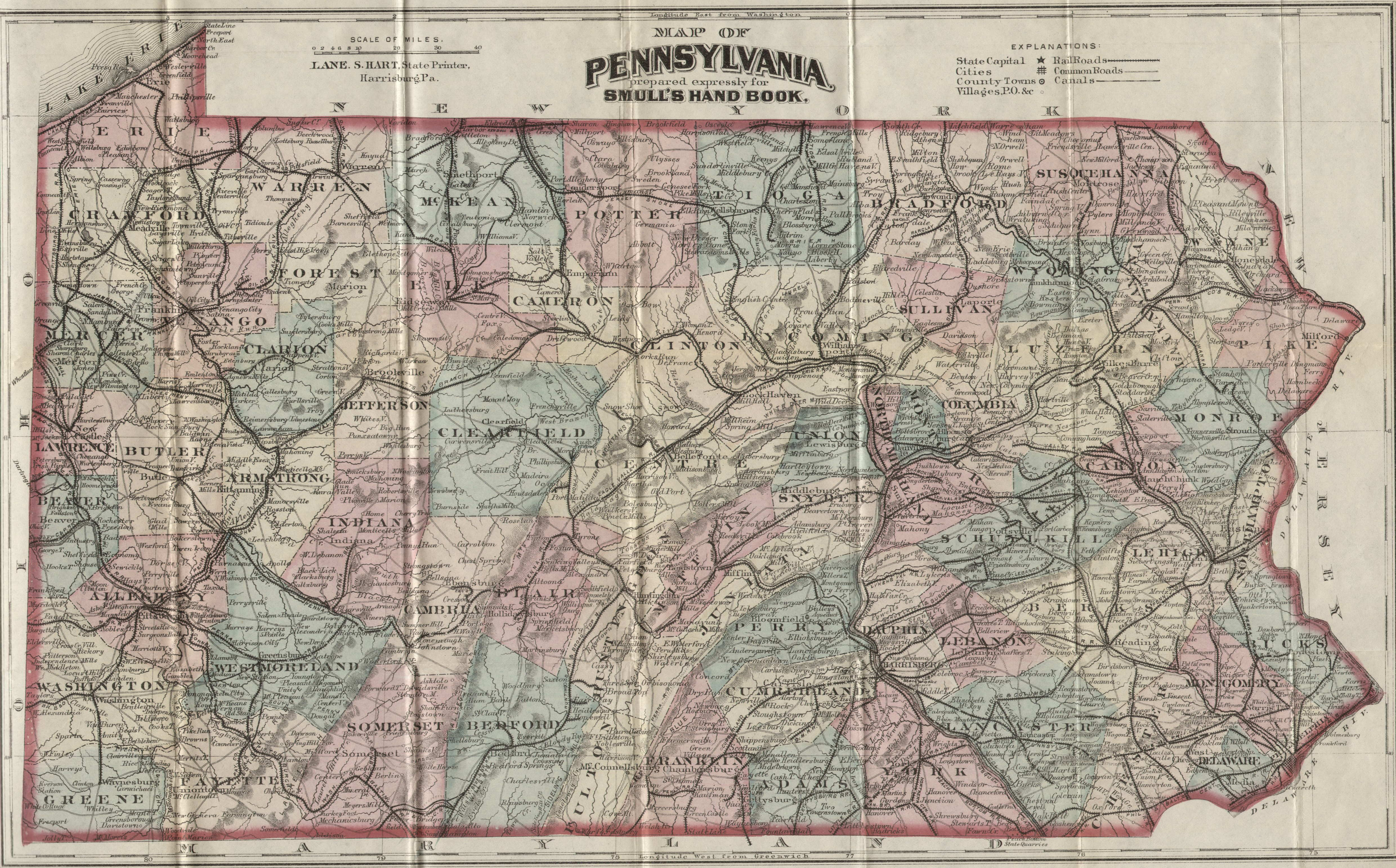 The County Seats Courthouses Of Pennsylvania - Counties visited map