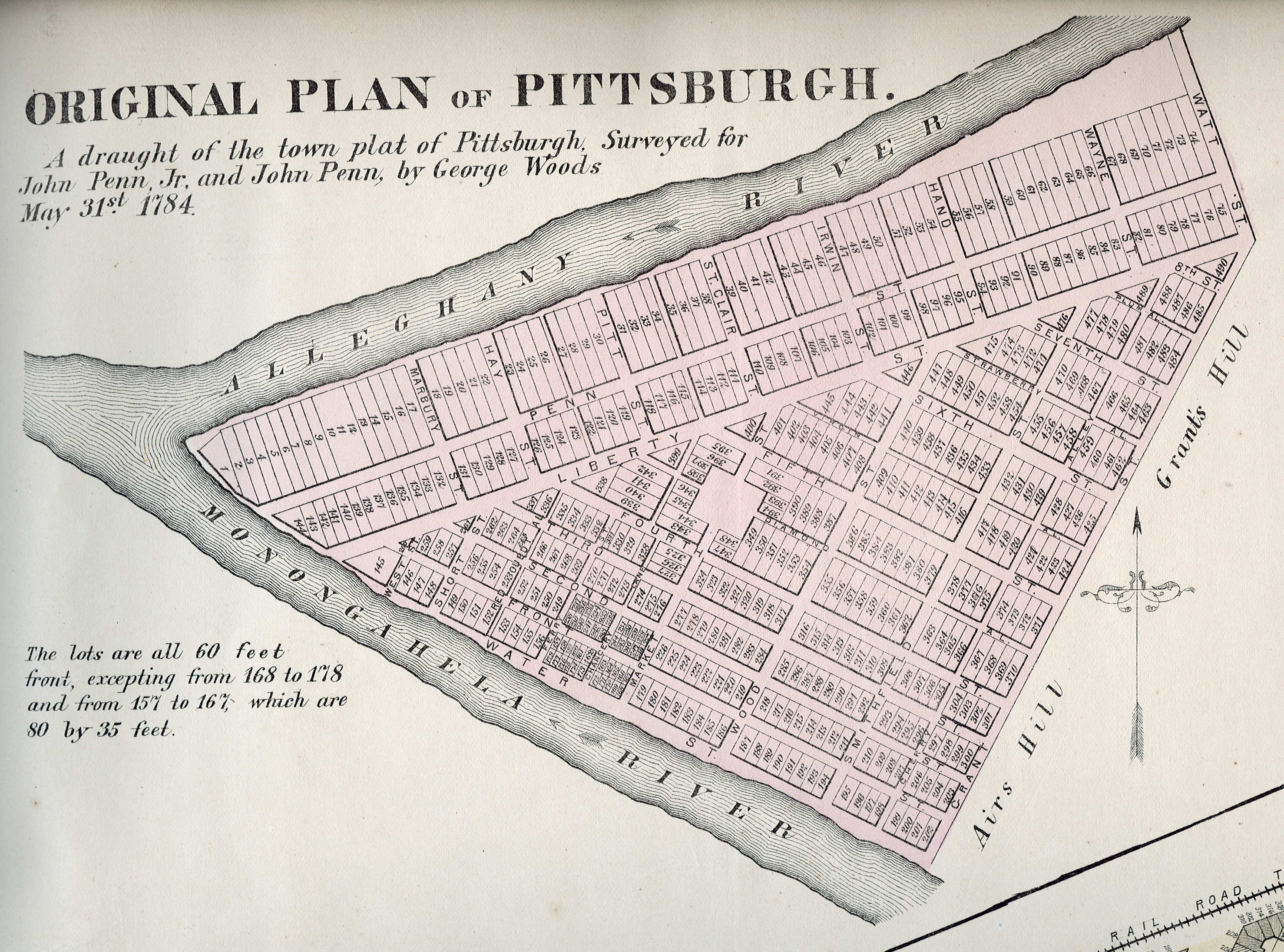 Pittsburgh - 1800s map of us