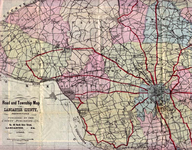 Early Road Maps Of Pennsylvania - Road map of pennsylvania