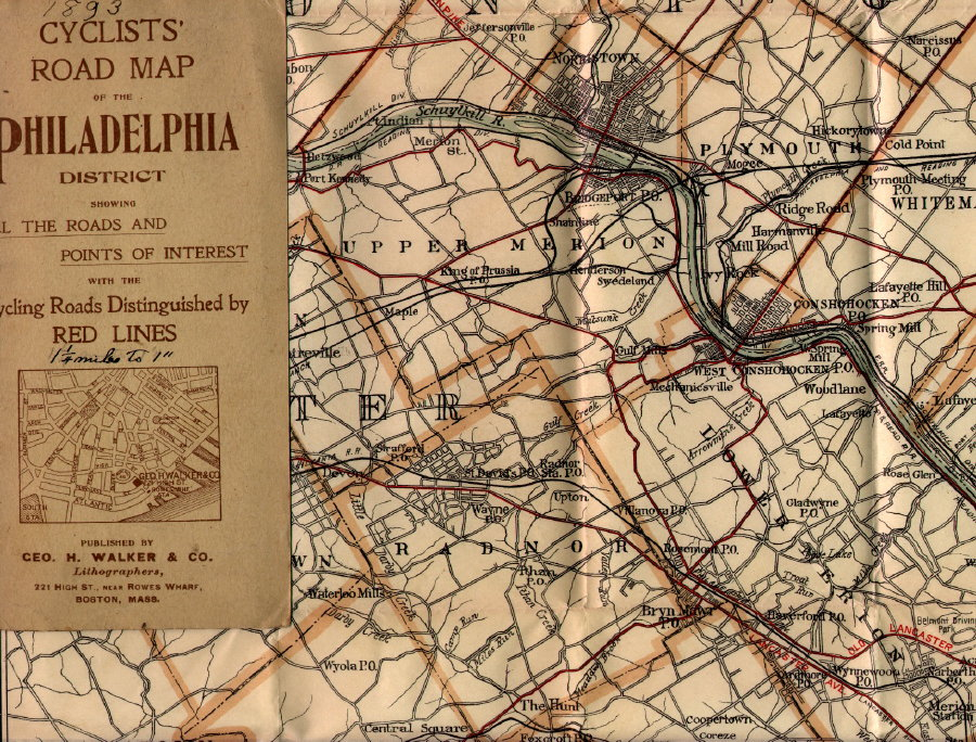 Early Road Maps Of Pennsylvania