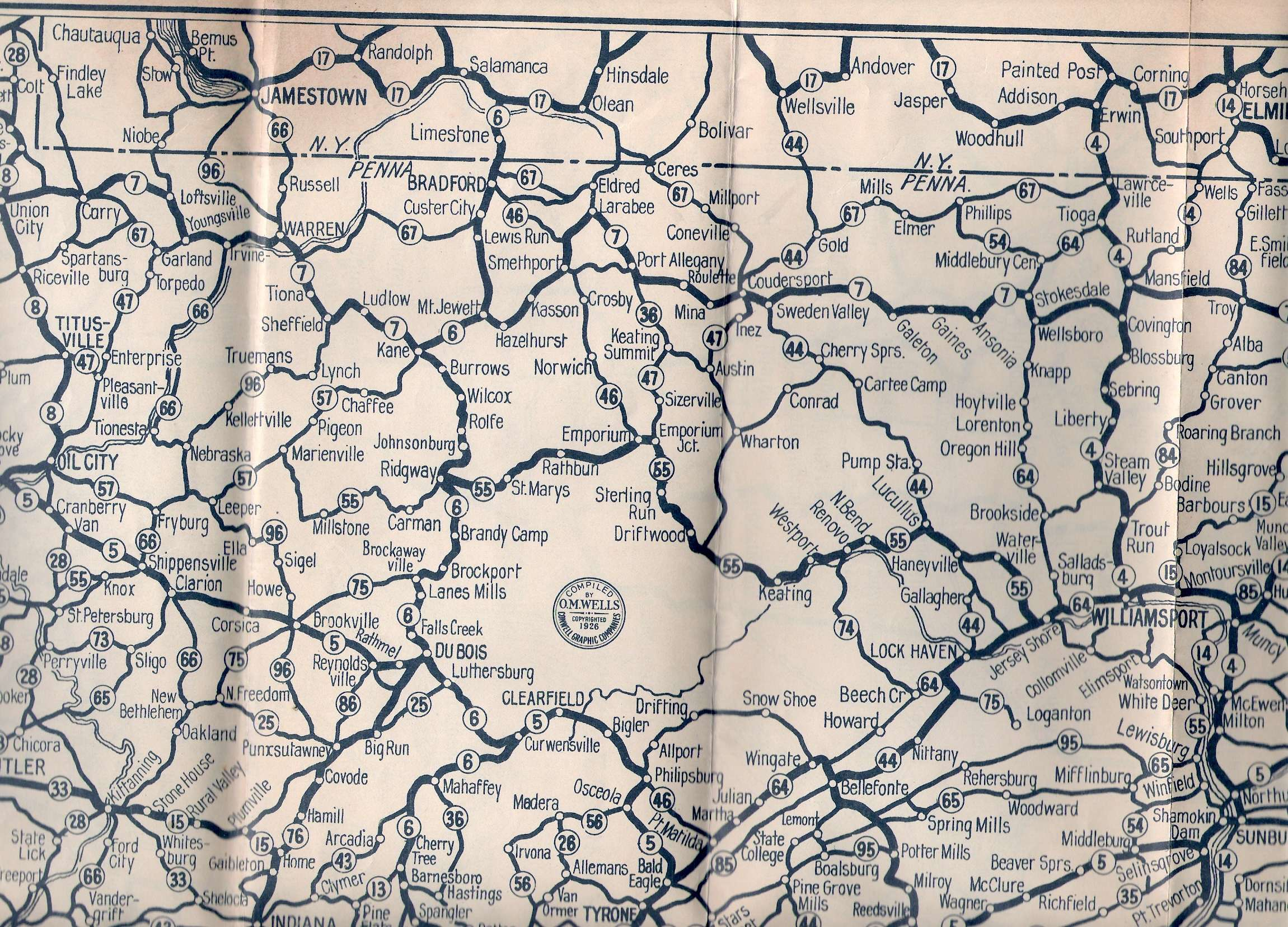 S Oil Company Road Maps Of Pennsylvania - Us pipeline 1950 map